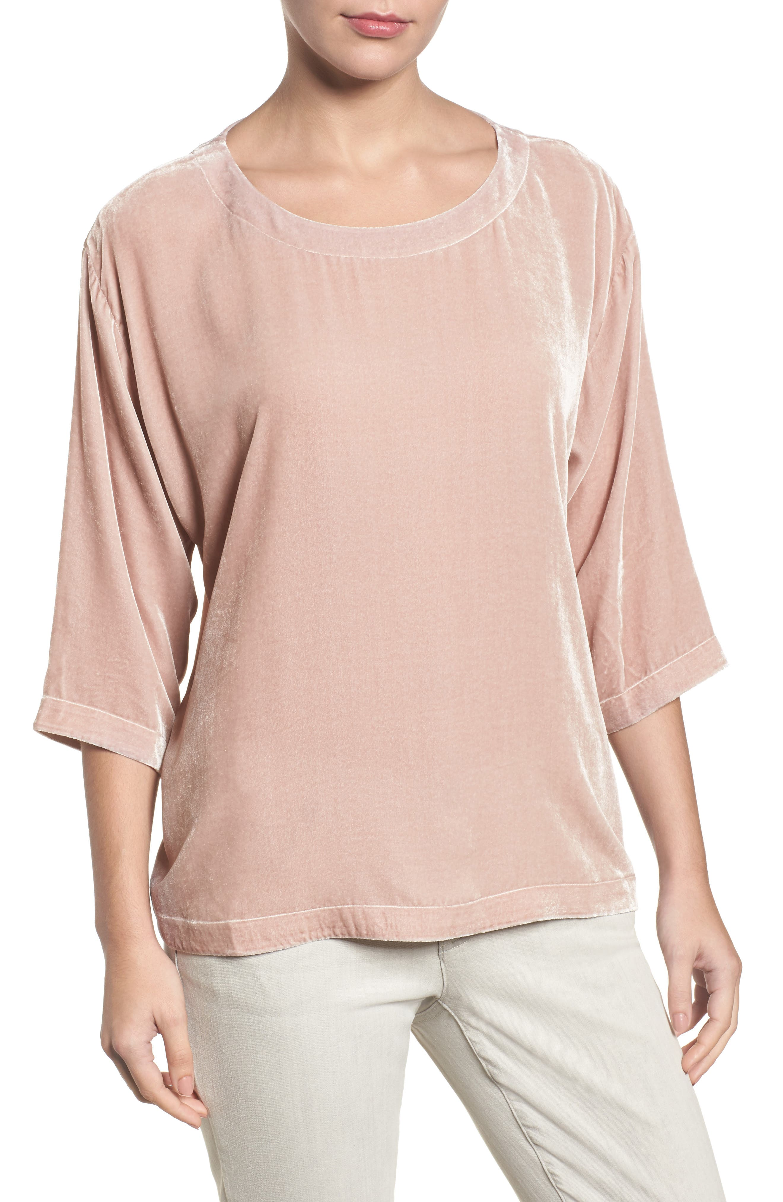 Eileen Fisher Boxy Velvet Top