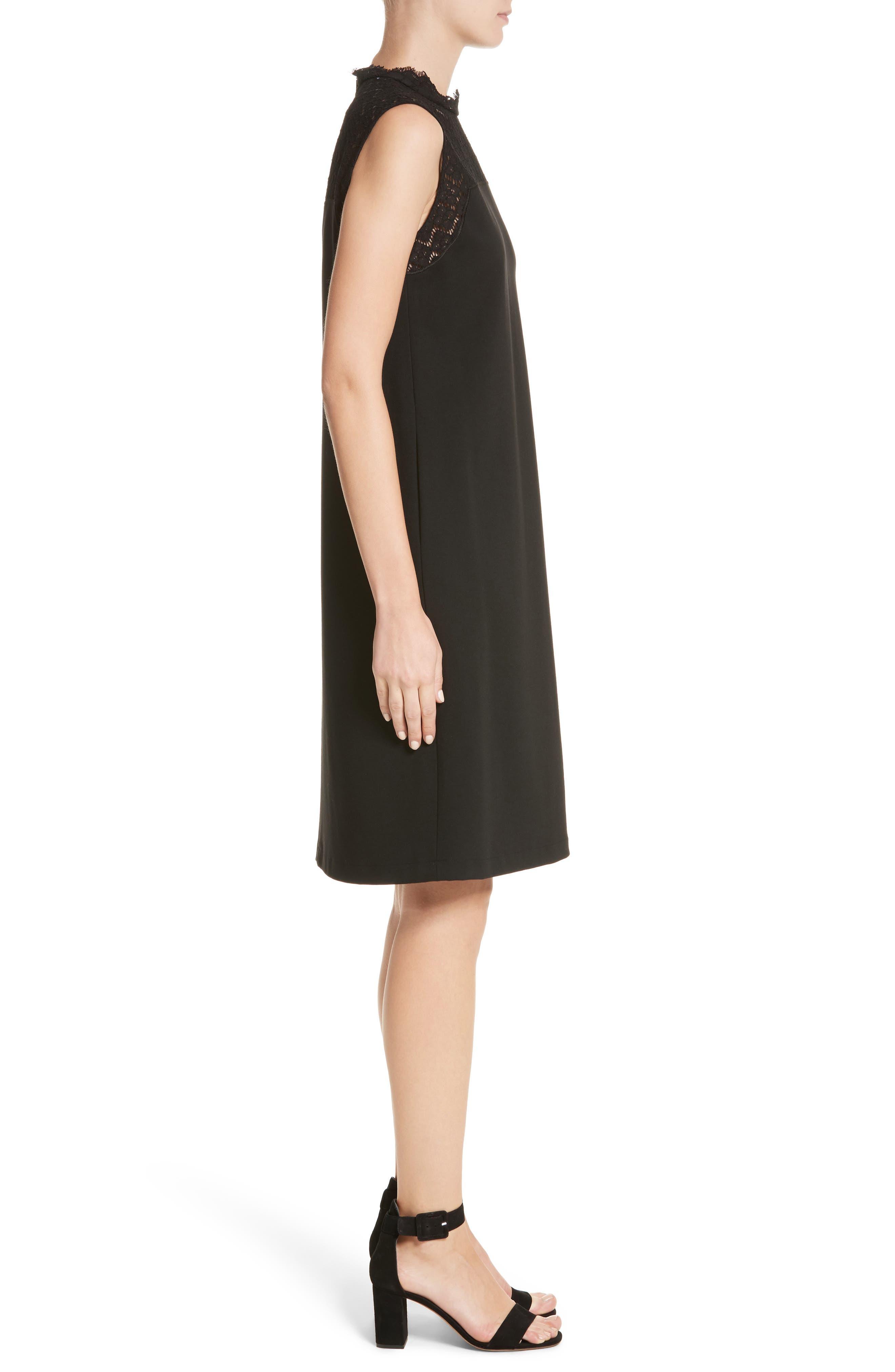 Alternate Image 3  - Lafayette 148 New York Ines Lace Trim Shift Dress