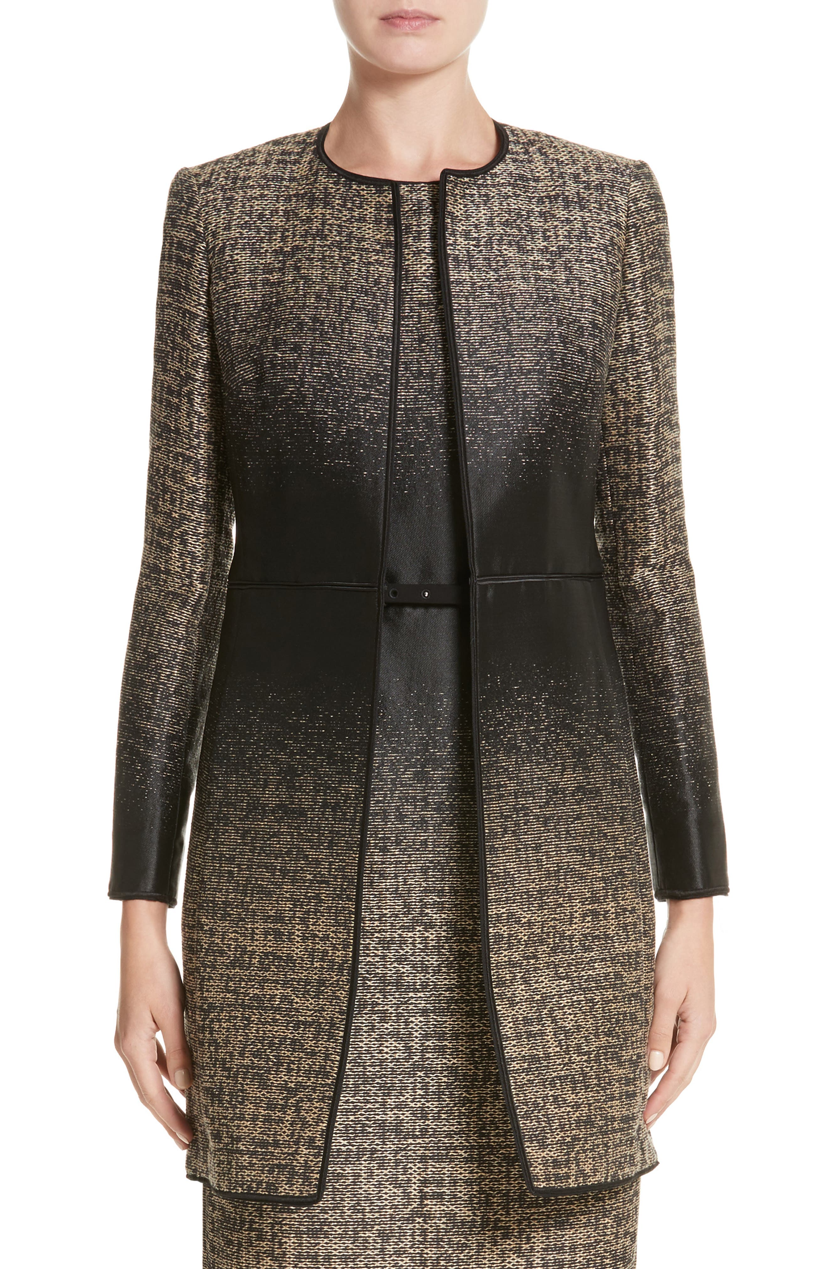 Erin Jacquard Jacket,                         Main,                         color, Black Multi