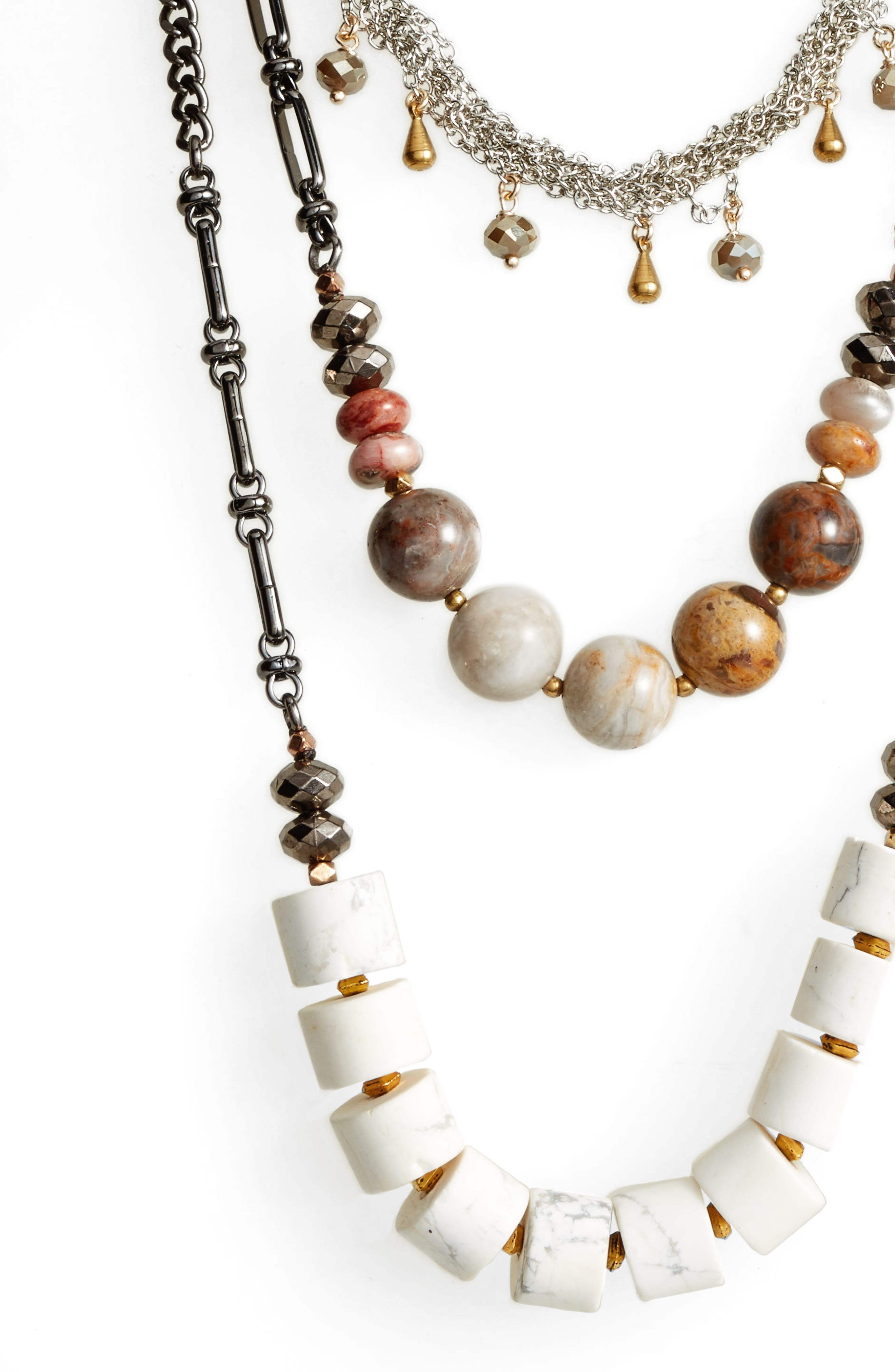 Multistrand Necklace,                             Alternate thumbnail 2, color,                             White