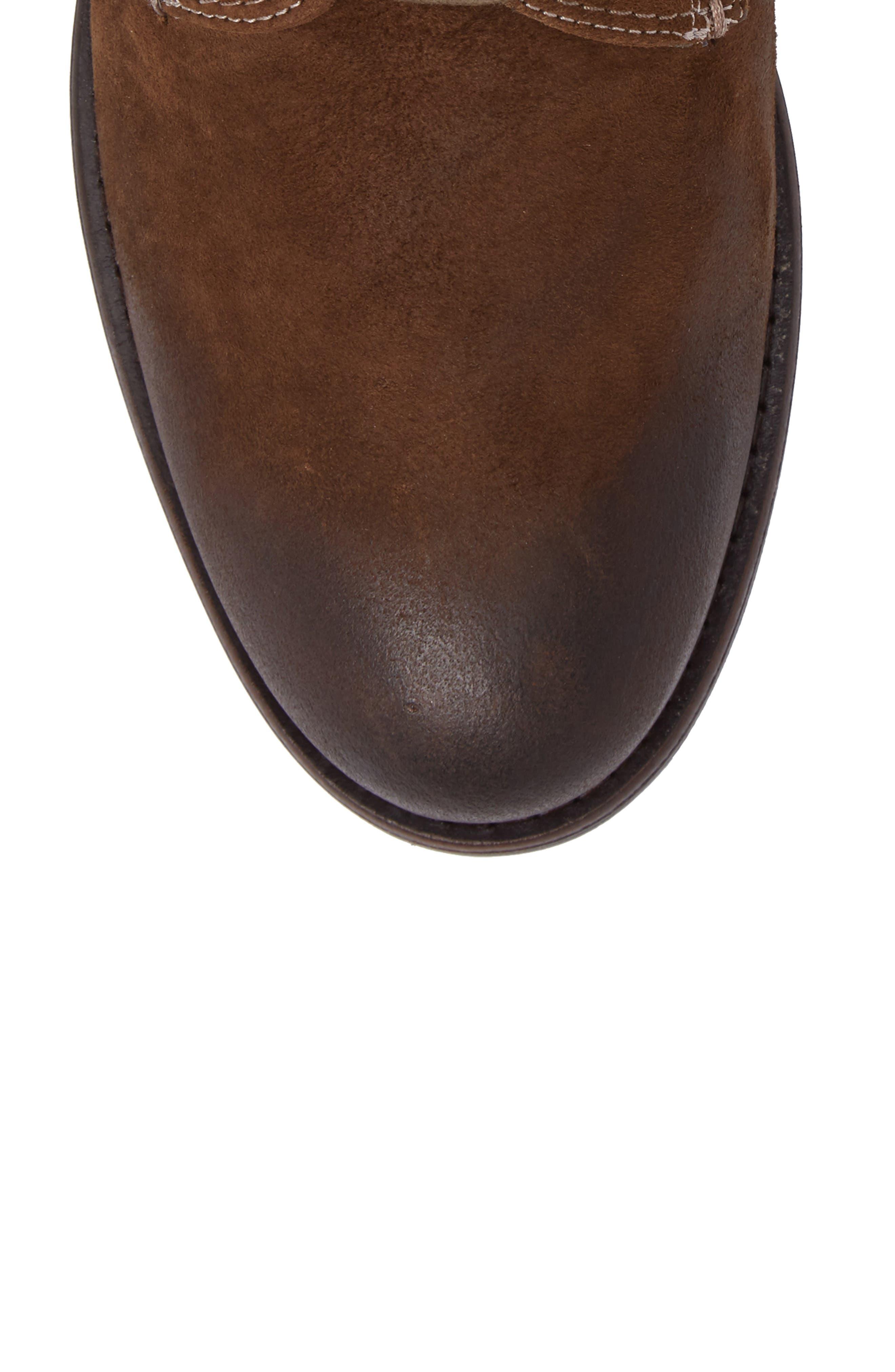 Cordie Plain Toe Boot,                             Alternate thumbnail 5, color,                             Oliva Suede