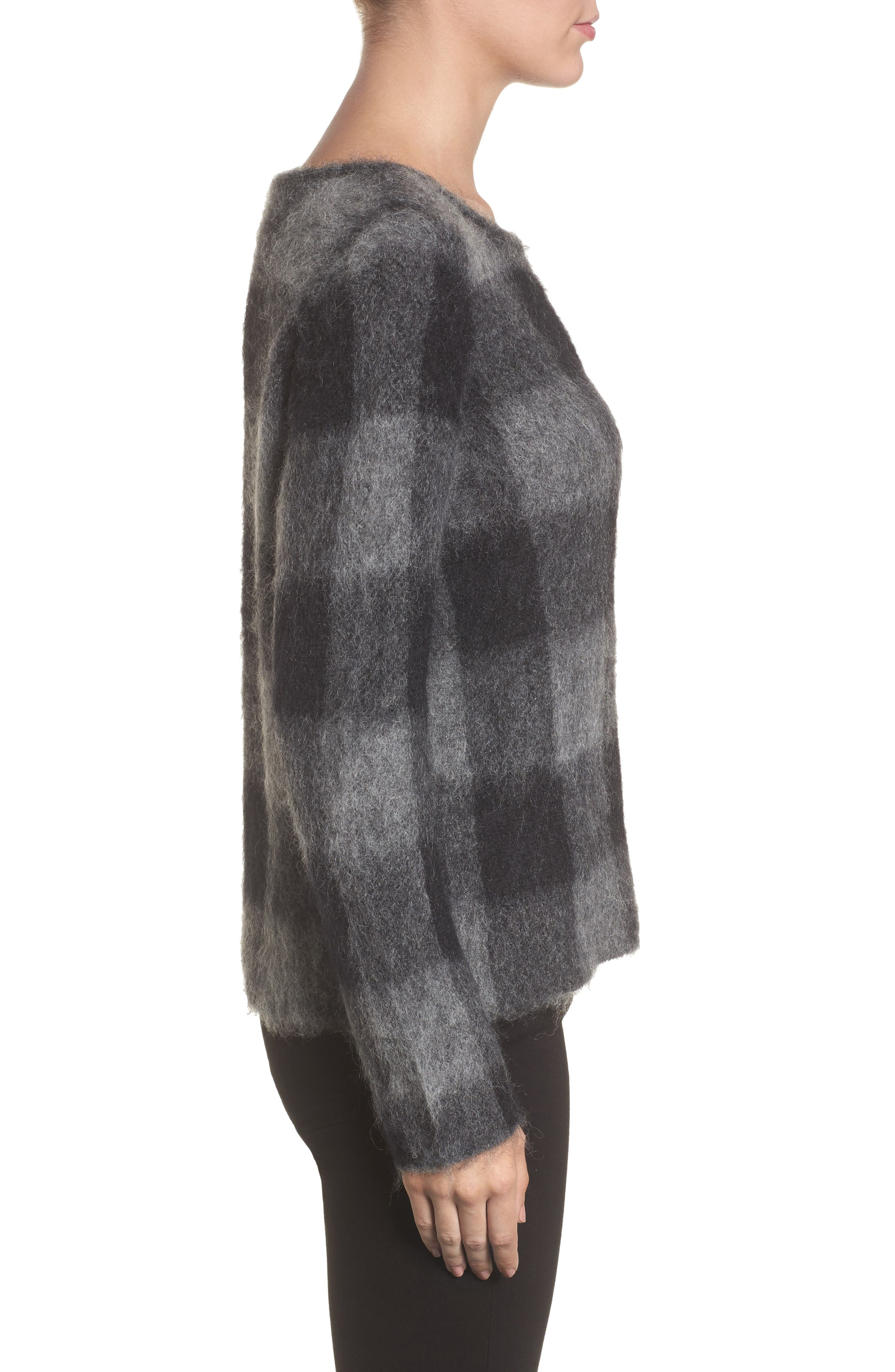 Alternate Image 3  - Eileen Fisher Check Plaid Sweater