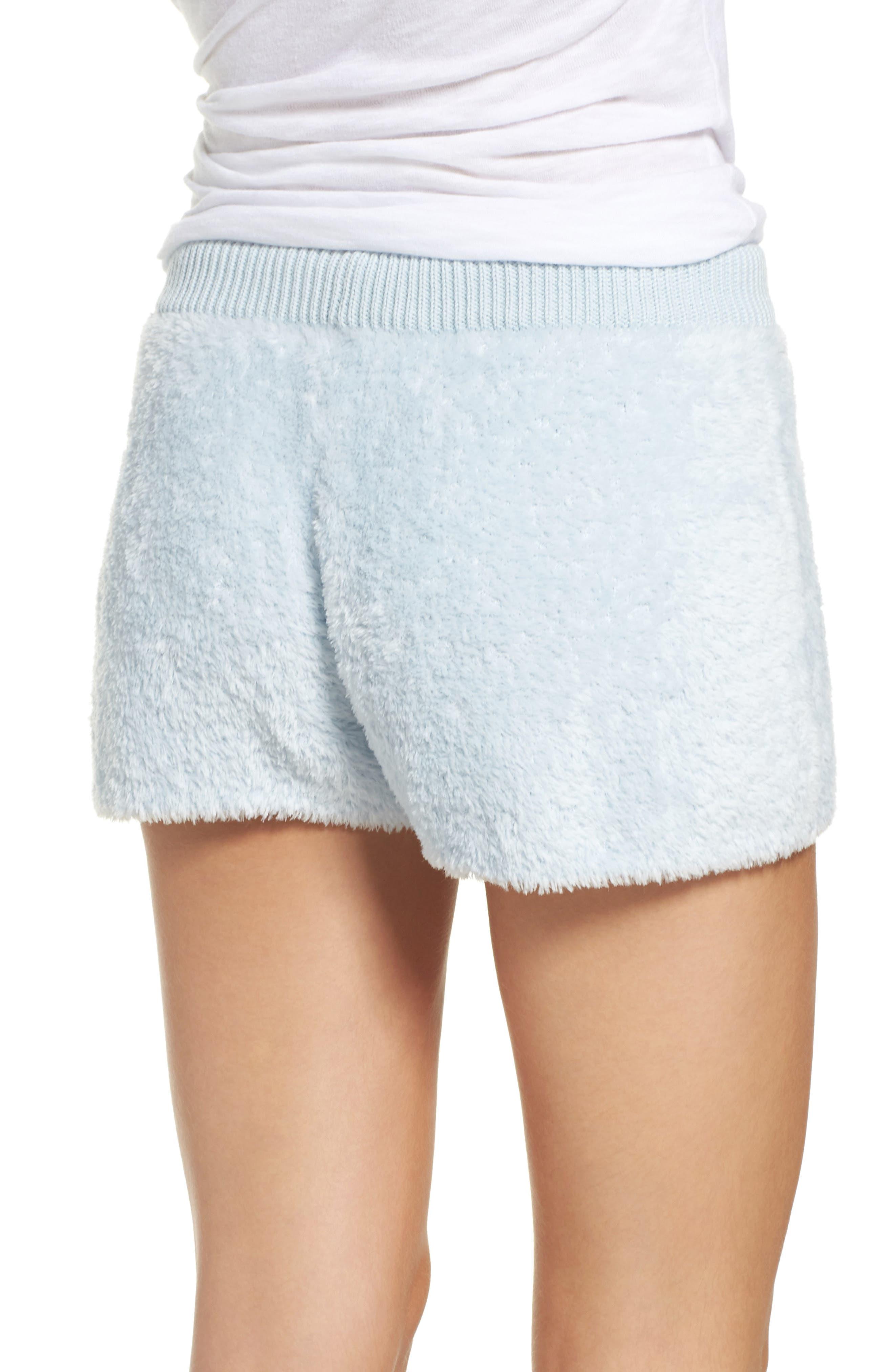 Fuzzy Lounge Shorts,                             Alternate thumbnail 2, color,                             Blue Drift