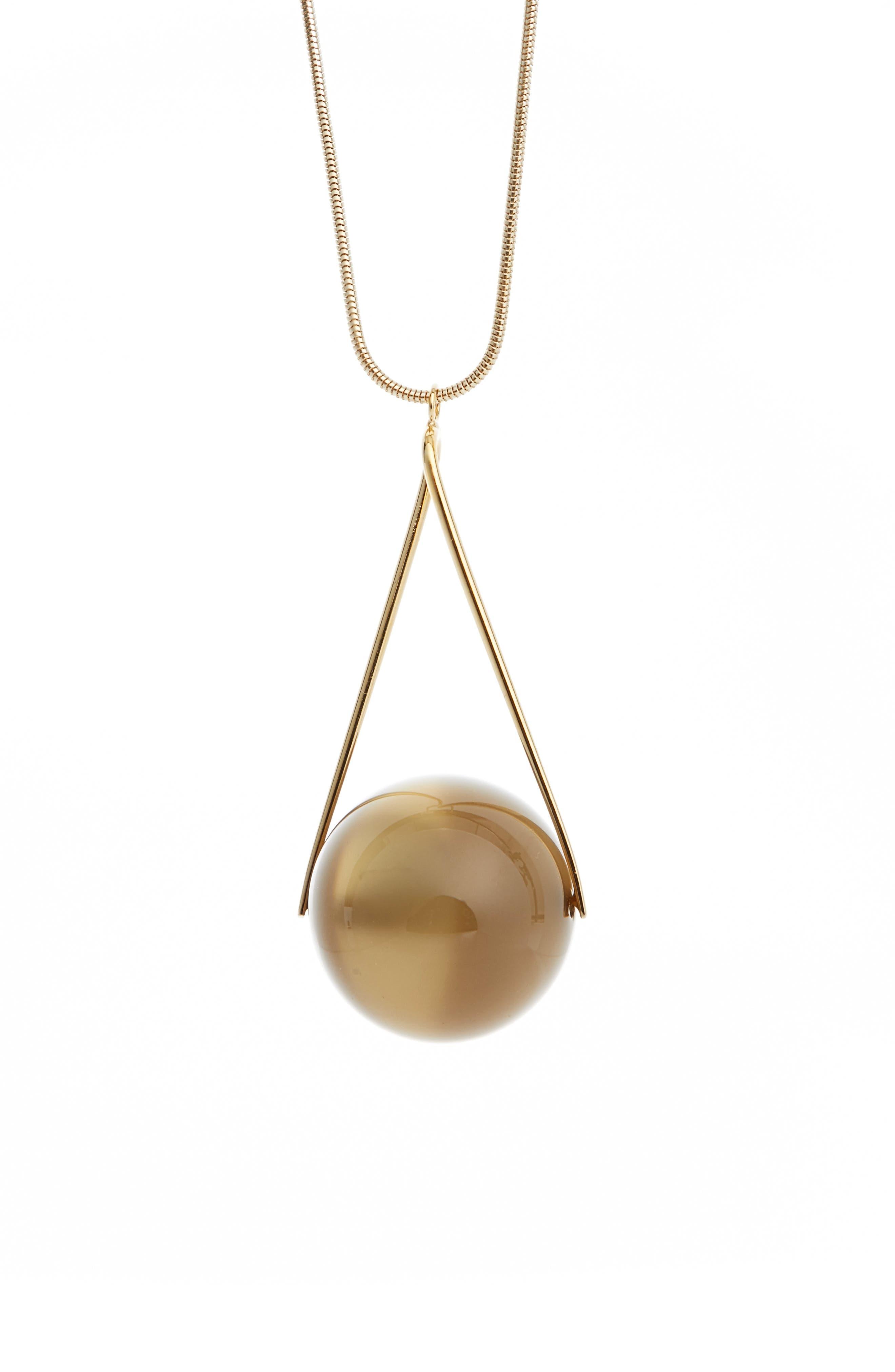 Single Orb Necklace,                         Main,                         color, Morel