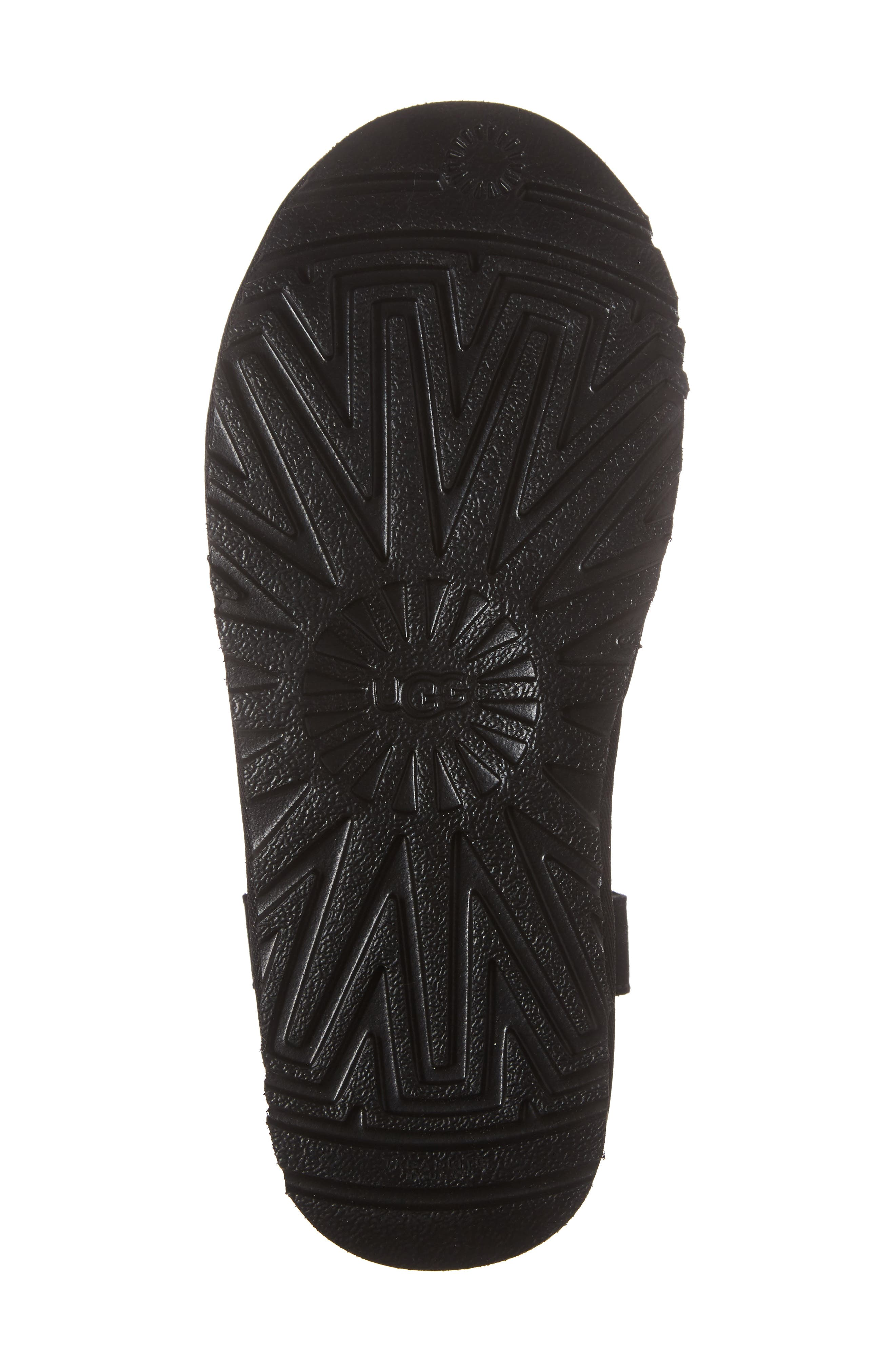 Saela Knit Cuff Boot,                             Alternate thumbnail 6, color,                             Black Suede