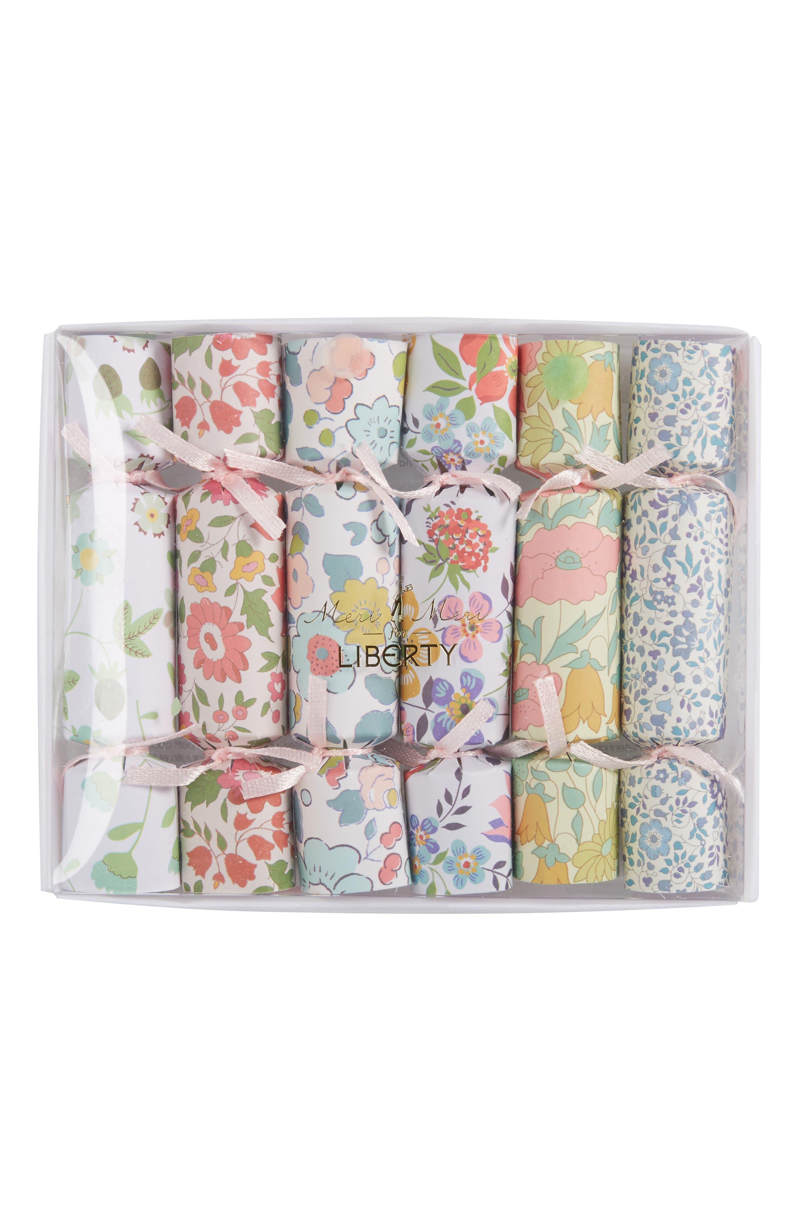 Meri Meri x Liberty 6-Pack Mini Foil Confetti Crackers