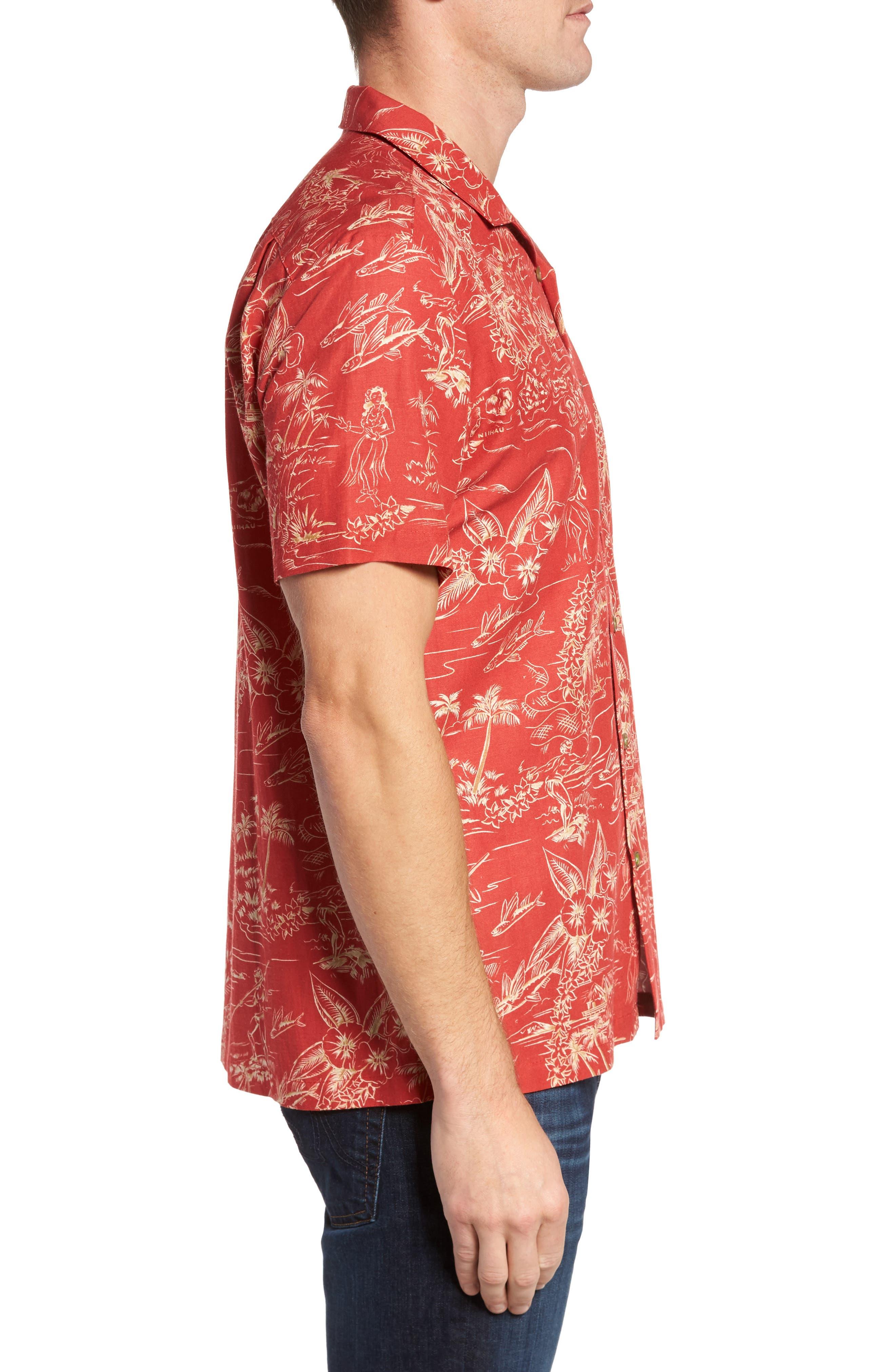 Alternate Image 3  - Kahala Konohiki Trim Fit Print Sport Shirt