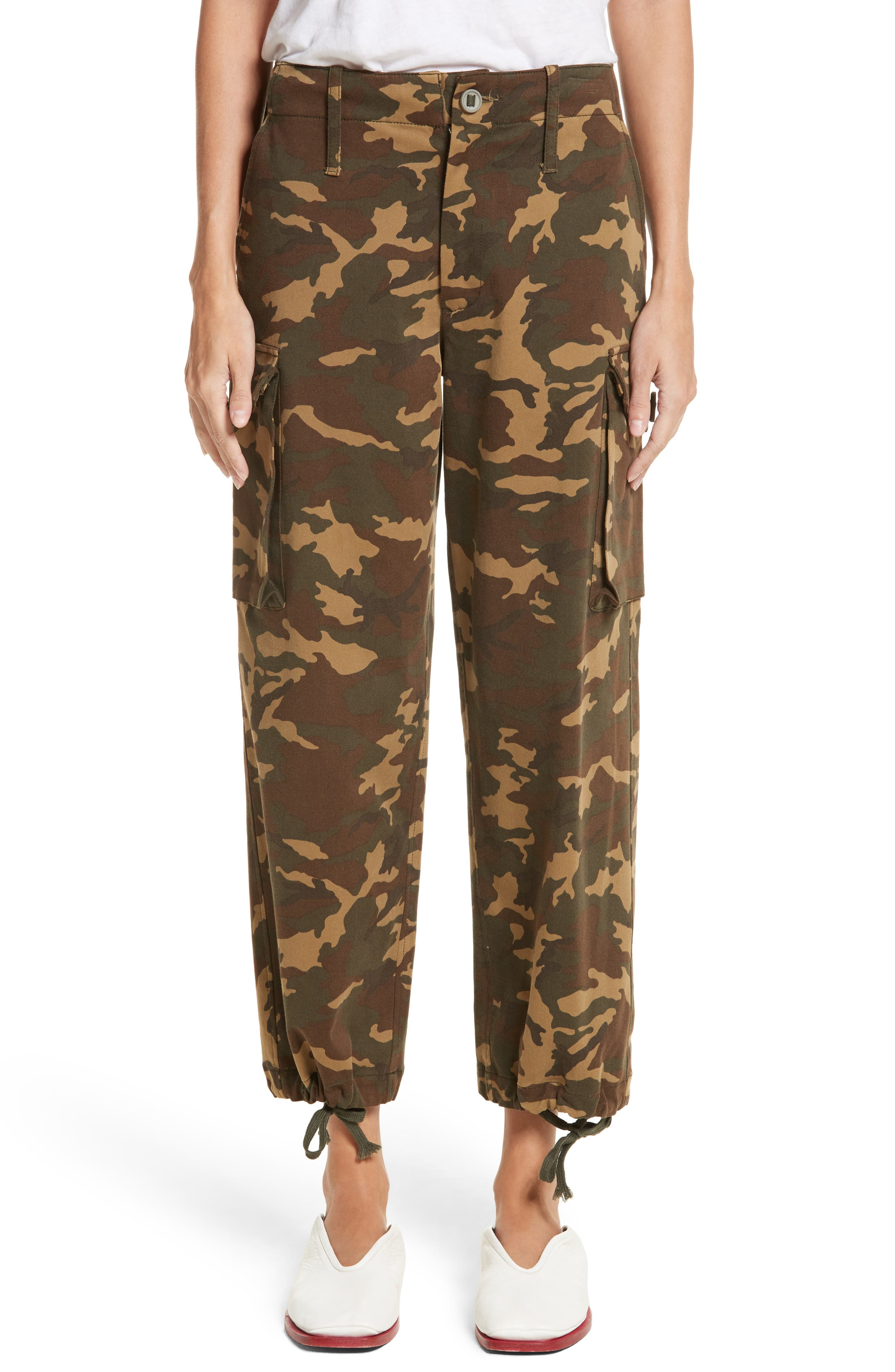 PSWL Camouflage Stretch Cotton Pants,                         Main,                         color, Camo