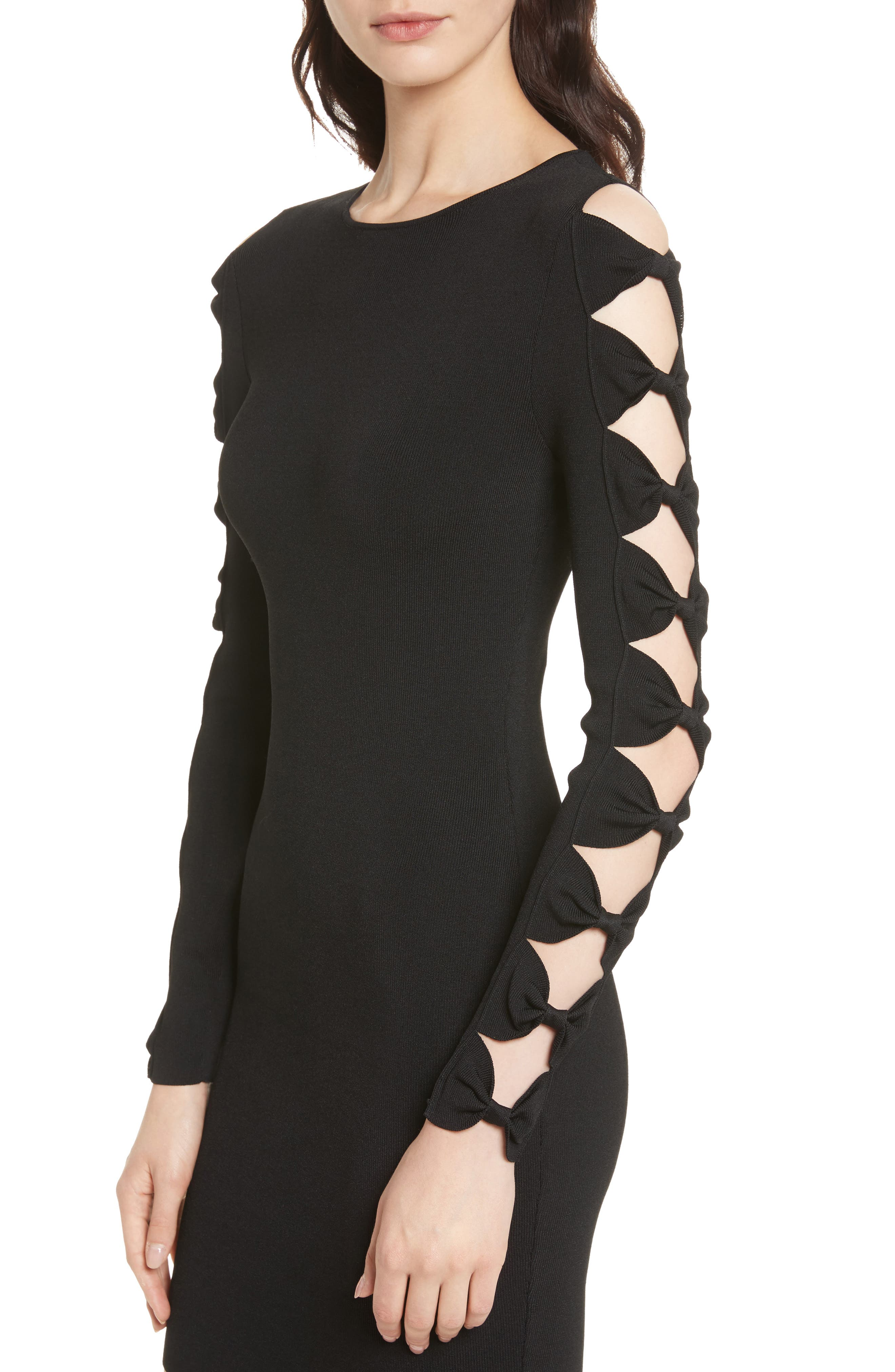 Alternate Image 4  - Ted Baker London Knotted Sleeve Body-Con Dress