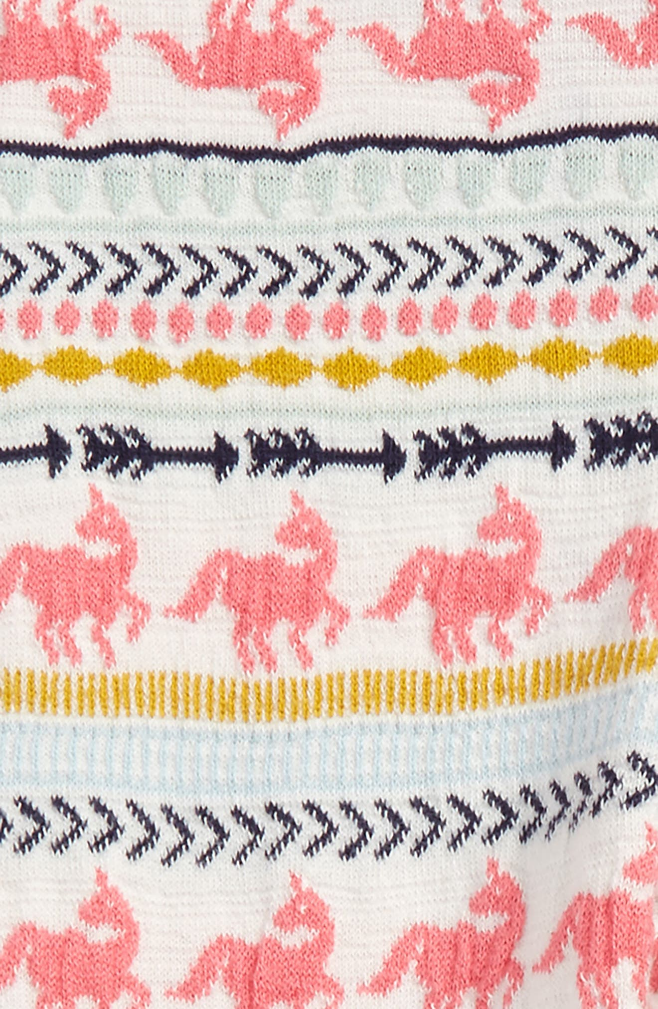 Pattern Knit Leggings,                             Alternate thumbnail 2, color,                             Ivory Egret Unicorn Fairisle
