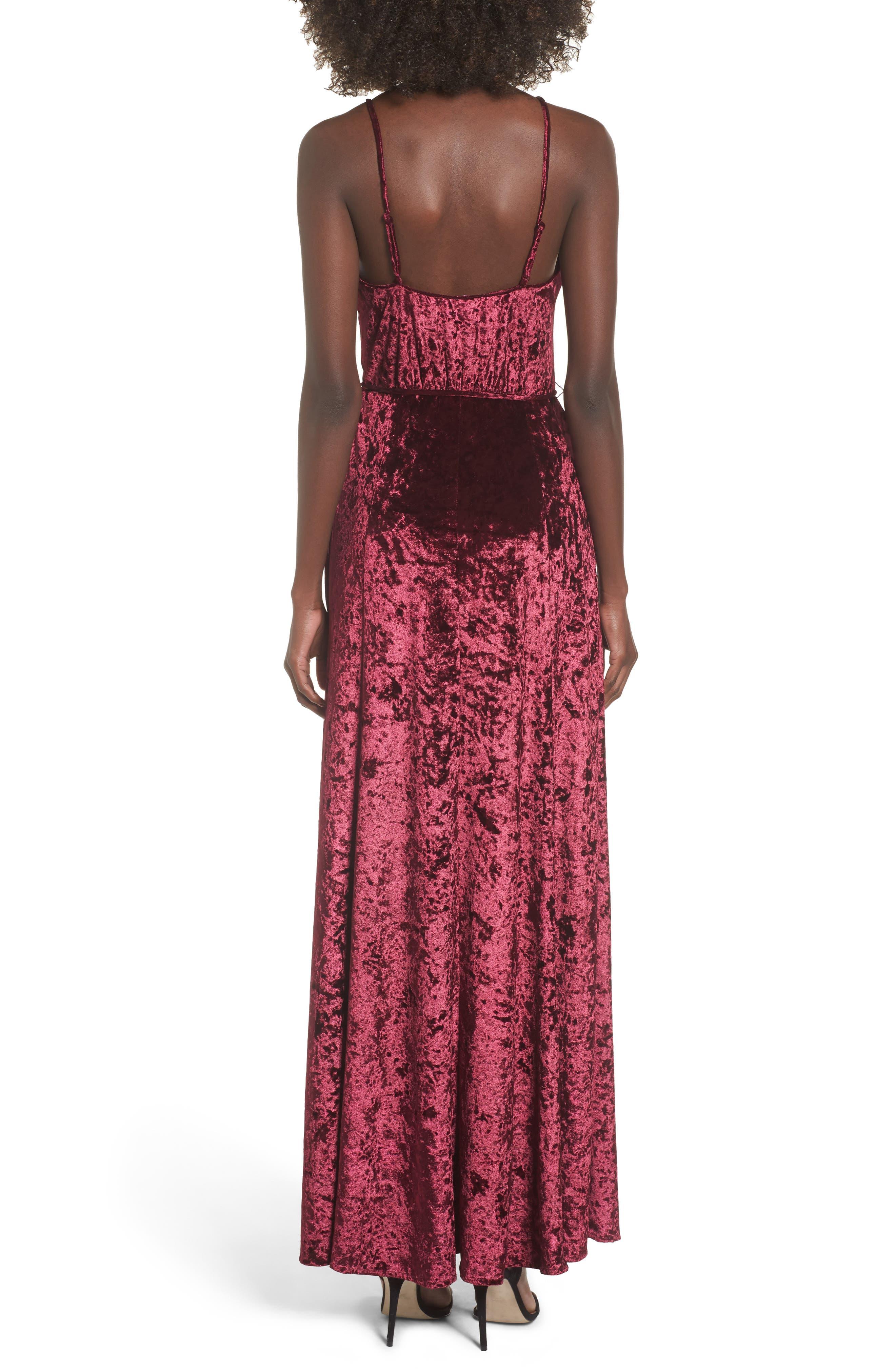 Crenshaw Maxi Dress,                             Alternate thumbnail 2, color,                             Bordeaux