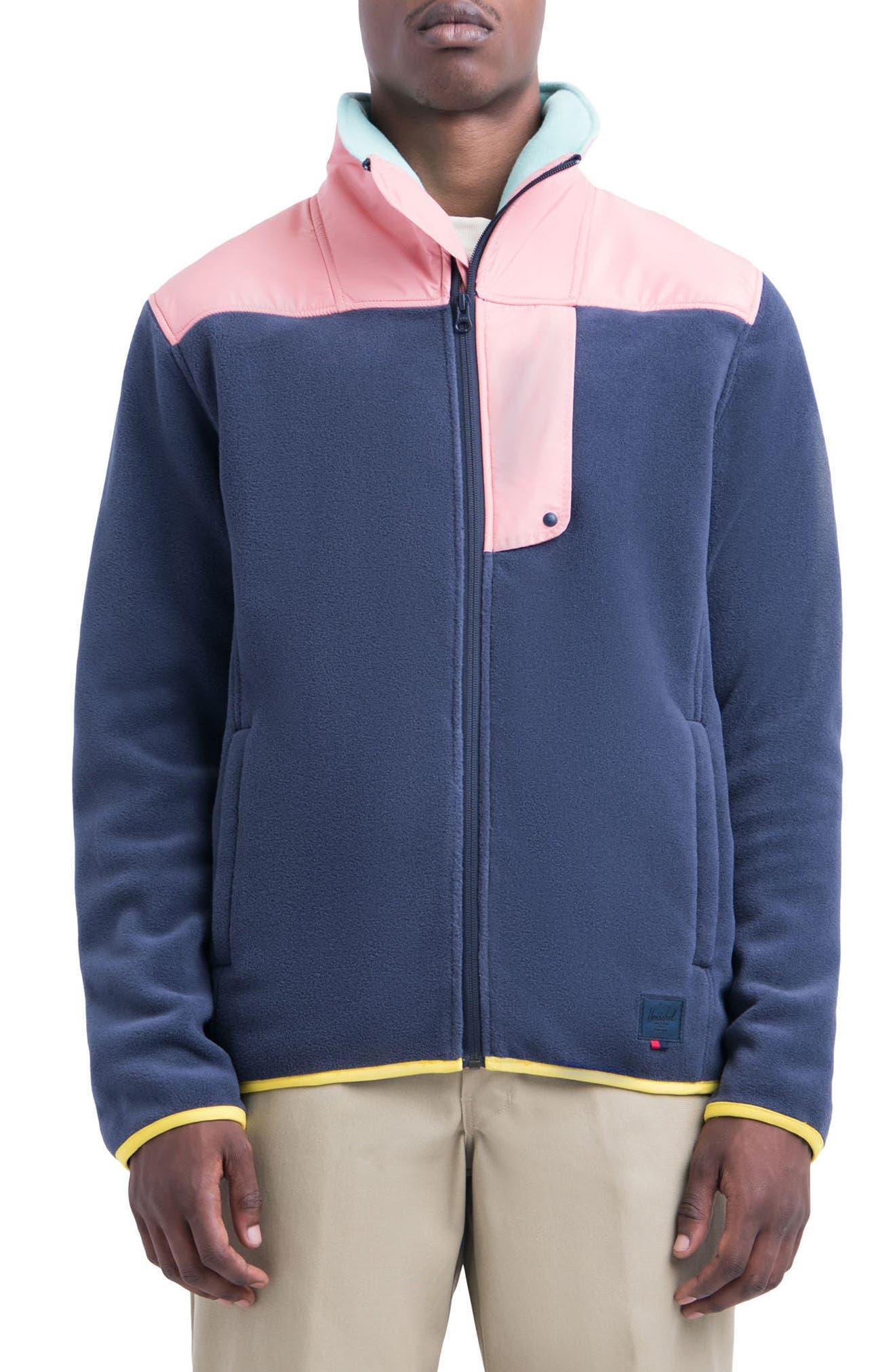 Main Image - Herschel Supply Co. Fleece Zip-Up