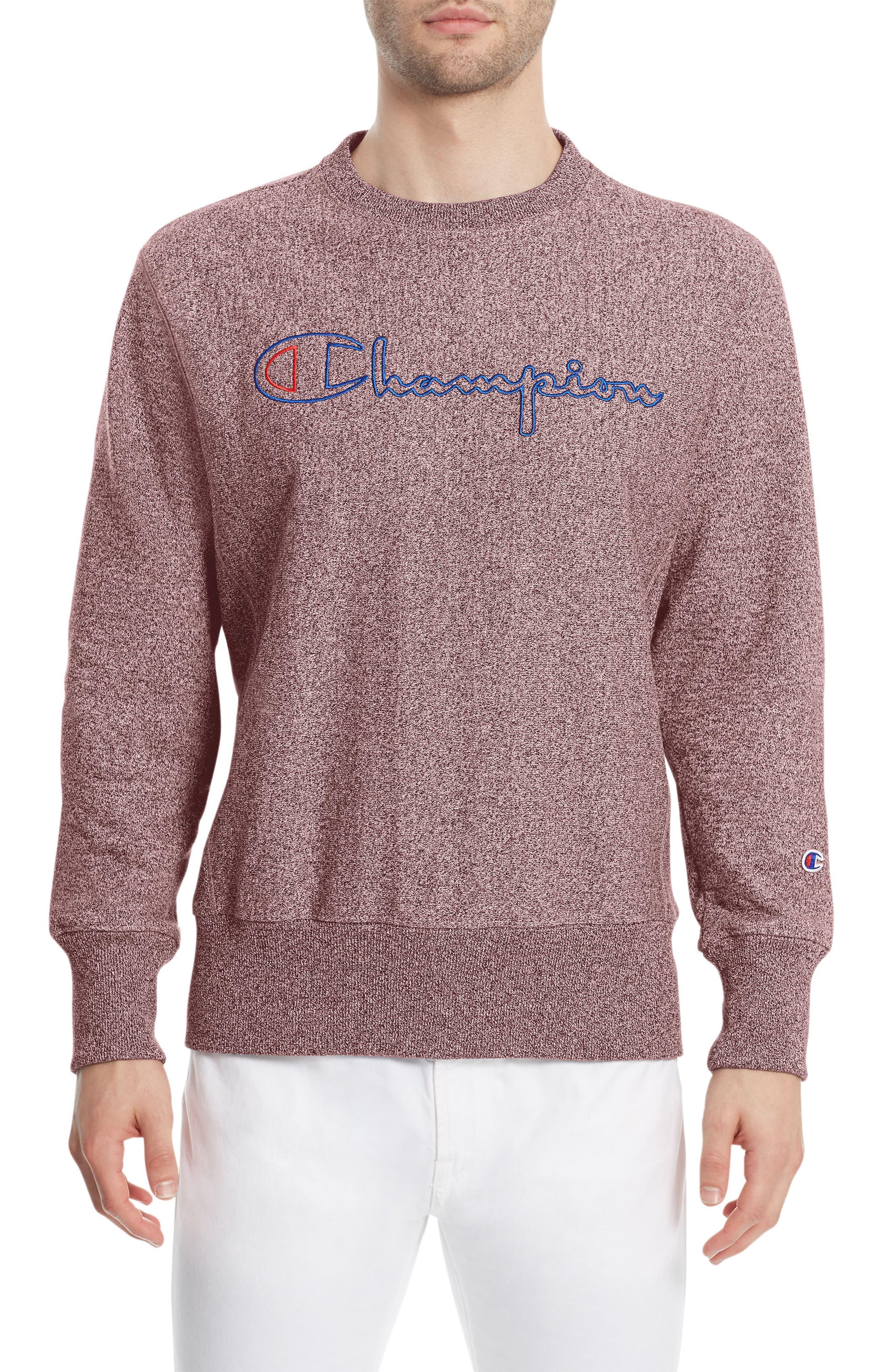 Jaspé Sweatshirt,                         Main,                         color, Maroon