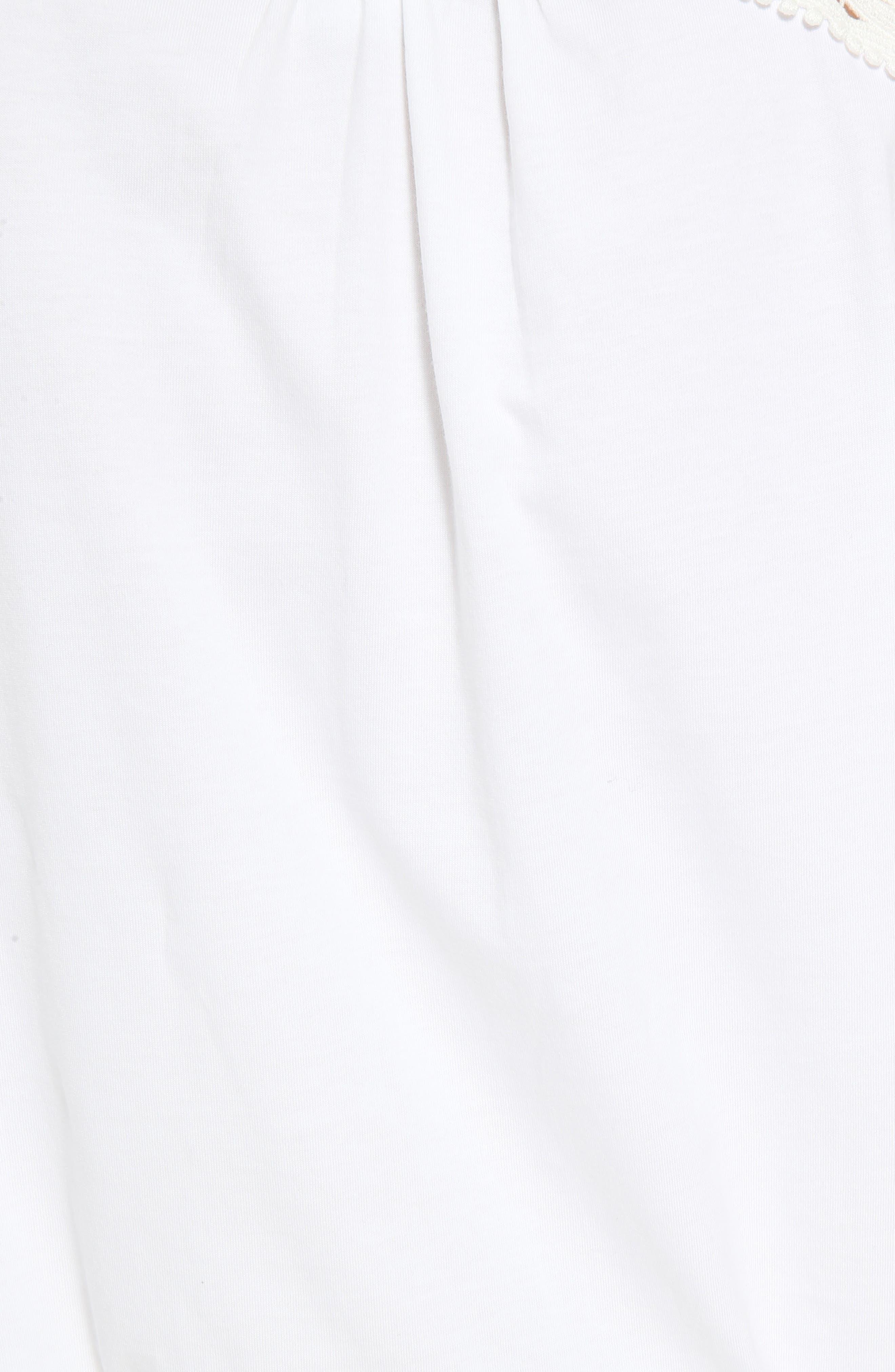 Alternate Image 5  - Chloé Lace Yoke Jersey Tee