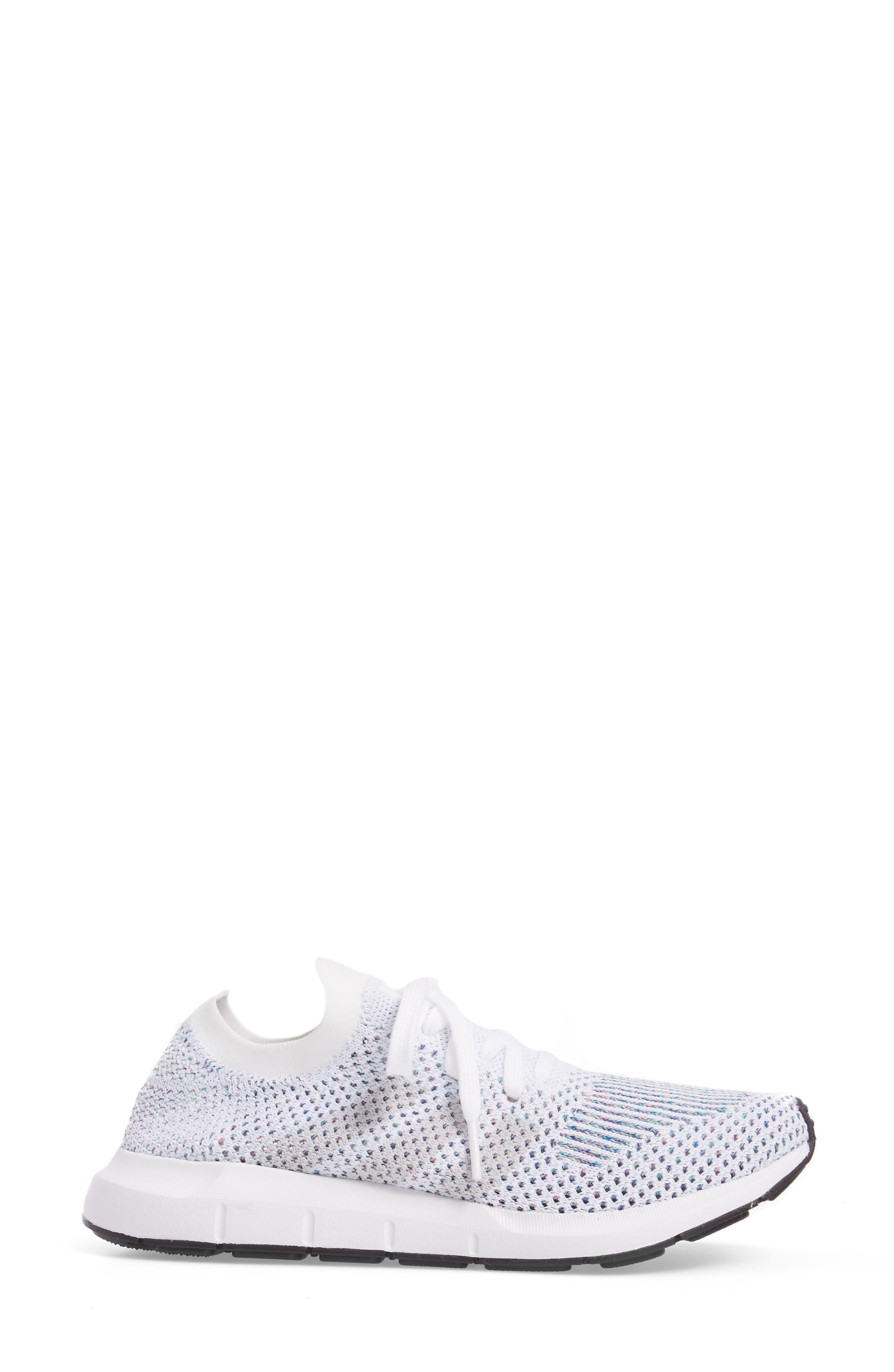 Swift Run Primeknit Training Shoe,                             Alternate thumbnail 3, color,                             White/ Off White/ Core Black