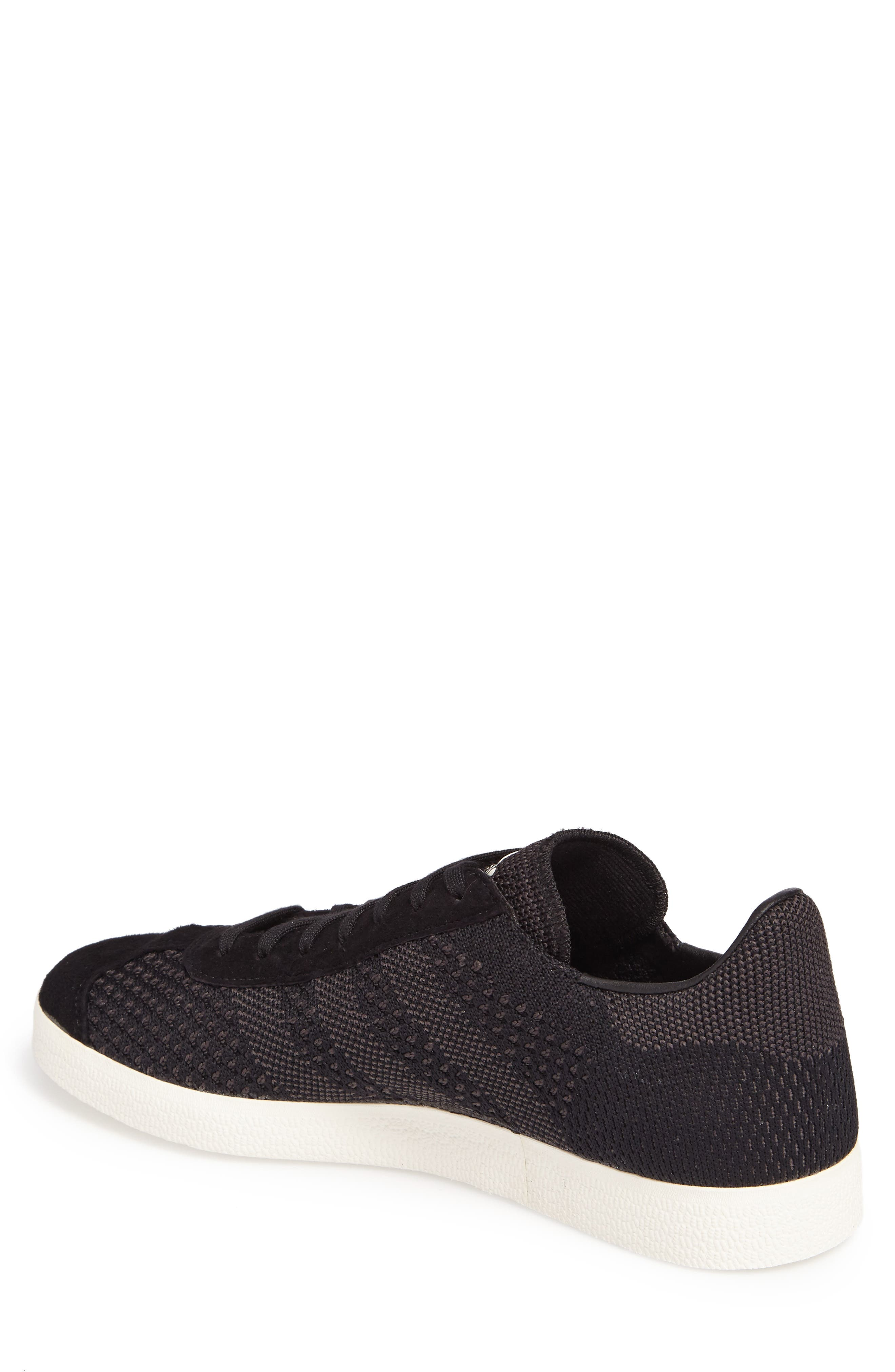Gazelle Primeknit Sneaker,                             Alternate thumbnail 2, color,                             Core Black/ Off White