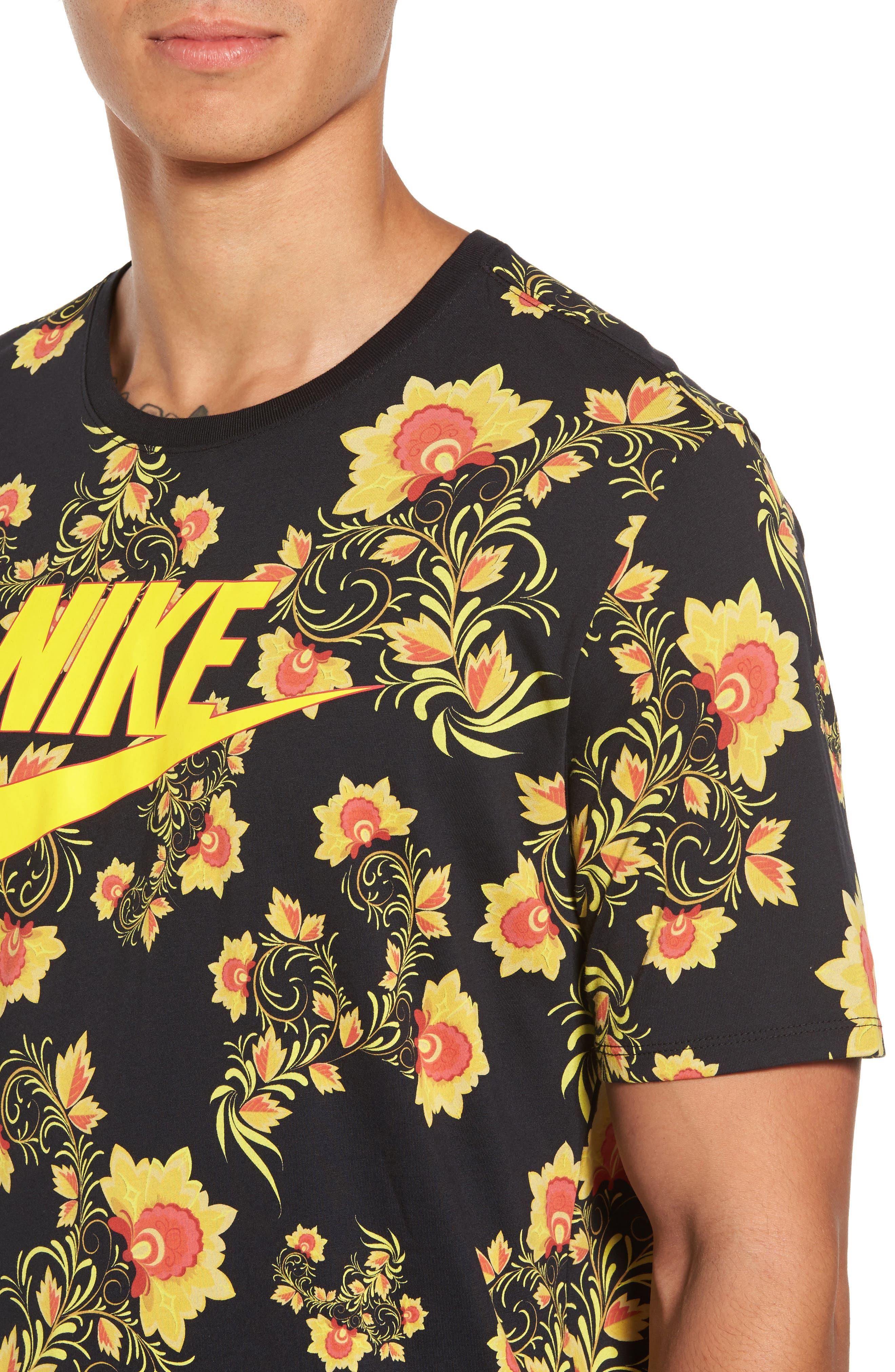 NSW Concept T-Shirt,                             Alternate thumbnail 4, color,                             Black/ Tour Yellow