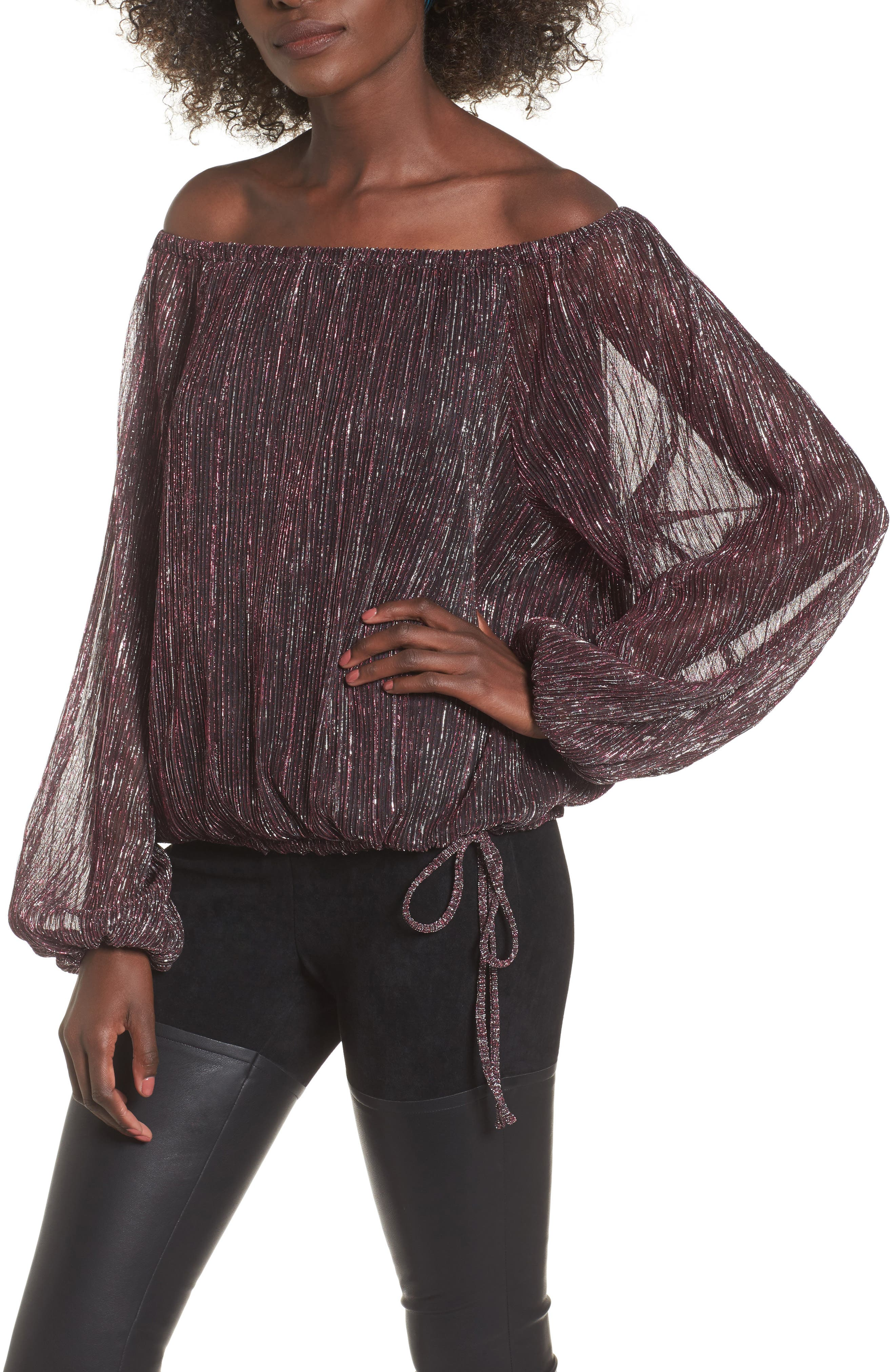 Felicia Off the Shoulder Blouse,                         Main,                         color, Multi