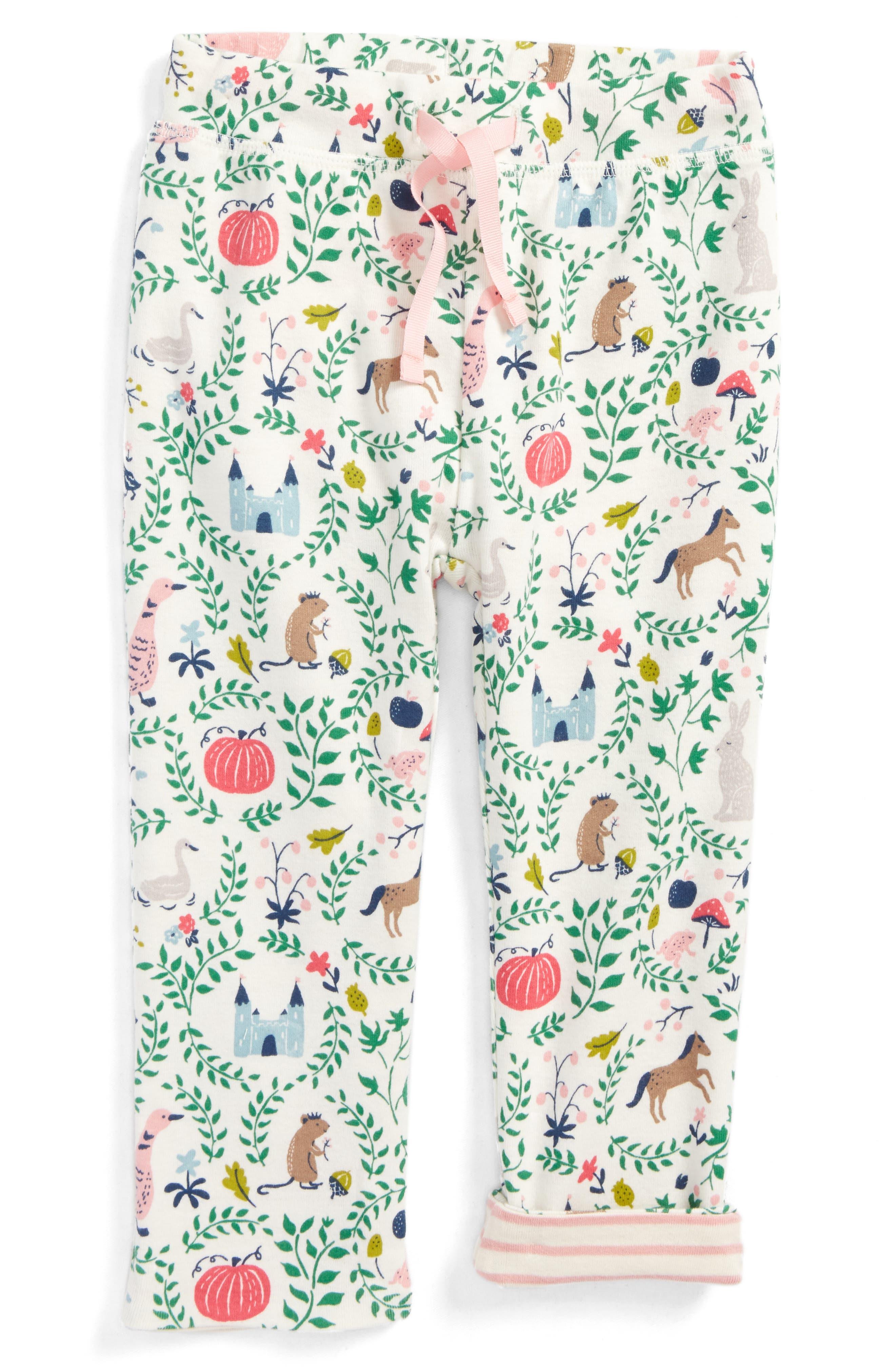 Main Image - Mini Boden Reversible Print Pants (Baby Girls & Toddler Girls)