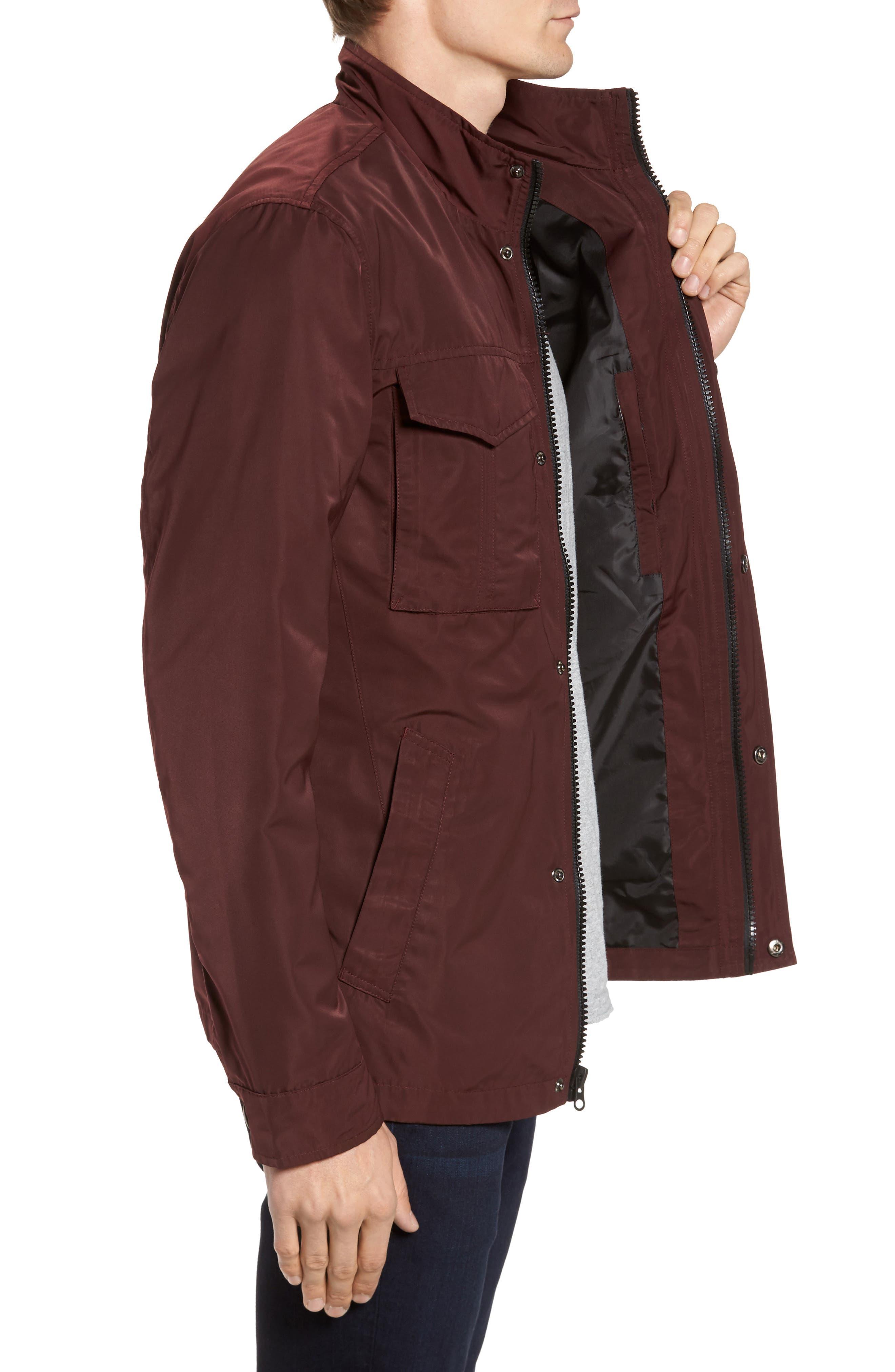 Dougie Waterproof Jacket,                             Alternate thumbnail 3, color,                             Mulberry