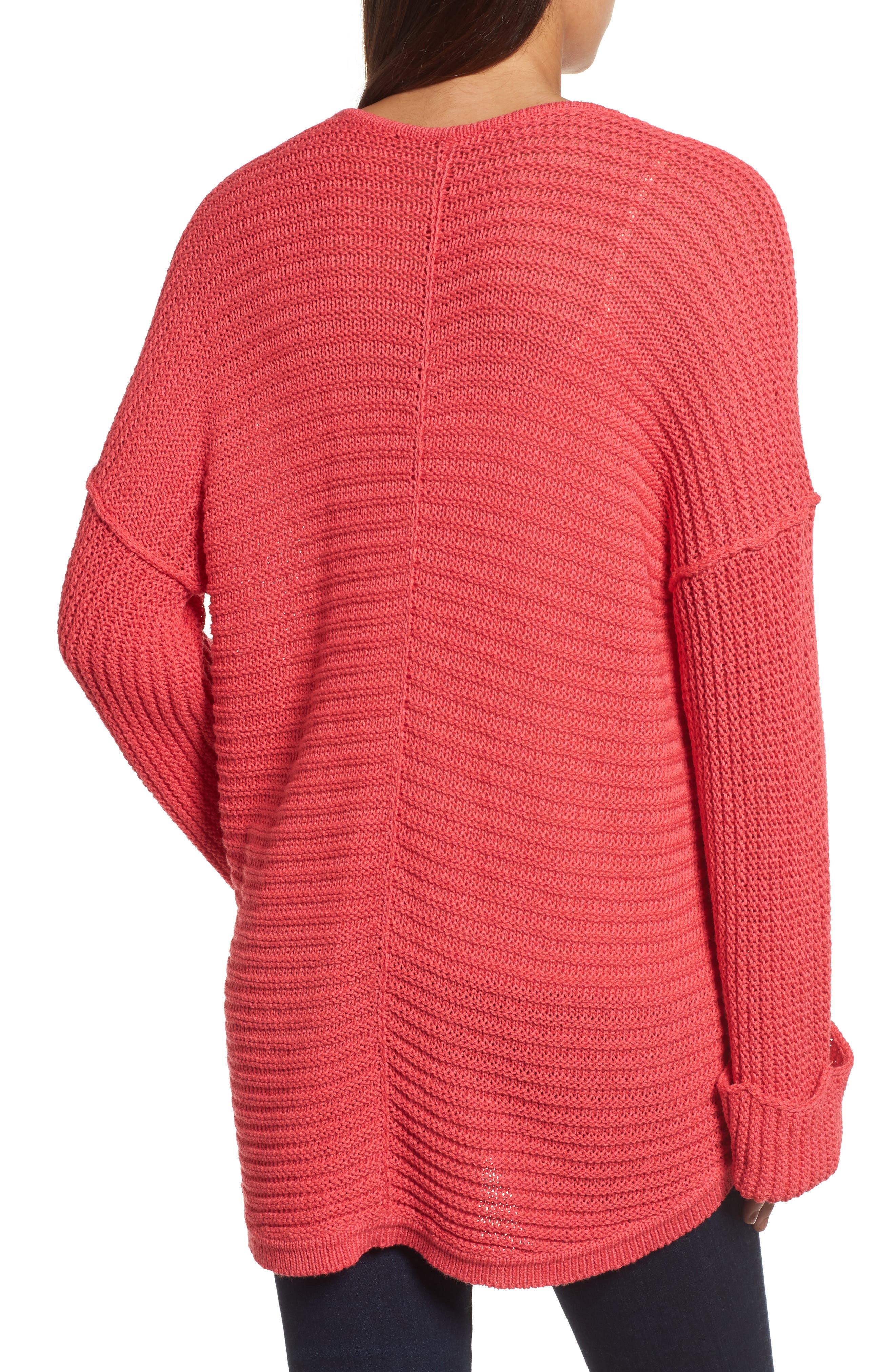 Alternate Image 2  - Caslon® Cuffed Sleeve Sweater (Regular & Petite)