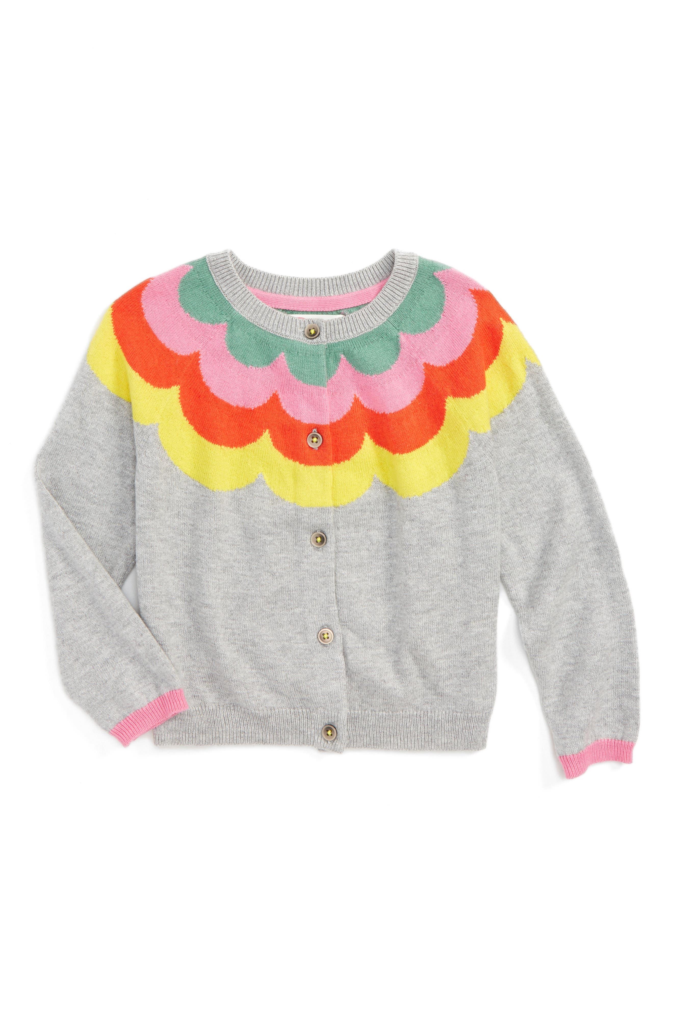 Mini Boden Rainbow Cardigan (Toddler Girls, Little Girls & Big Girls)