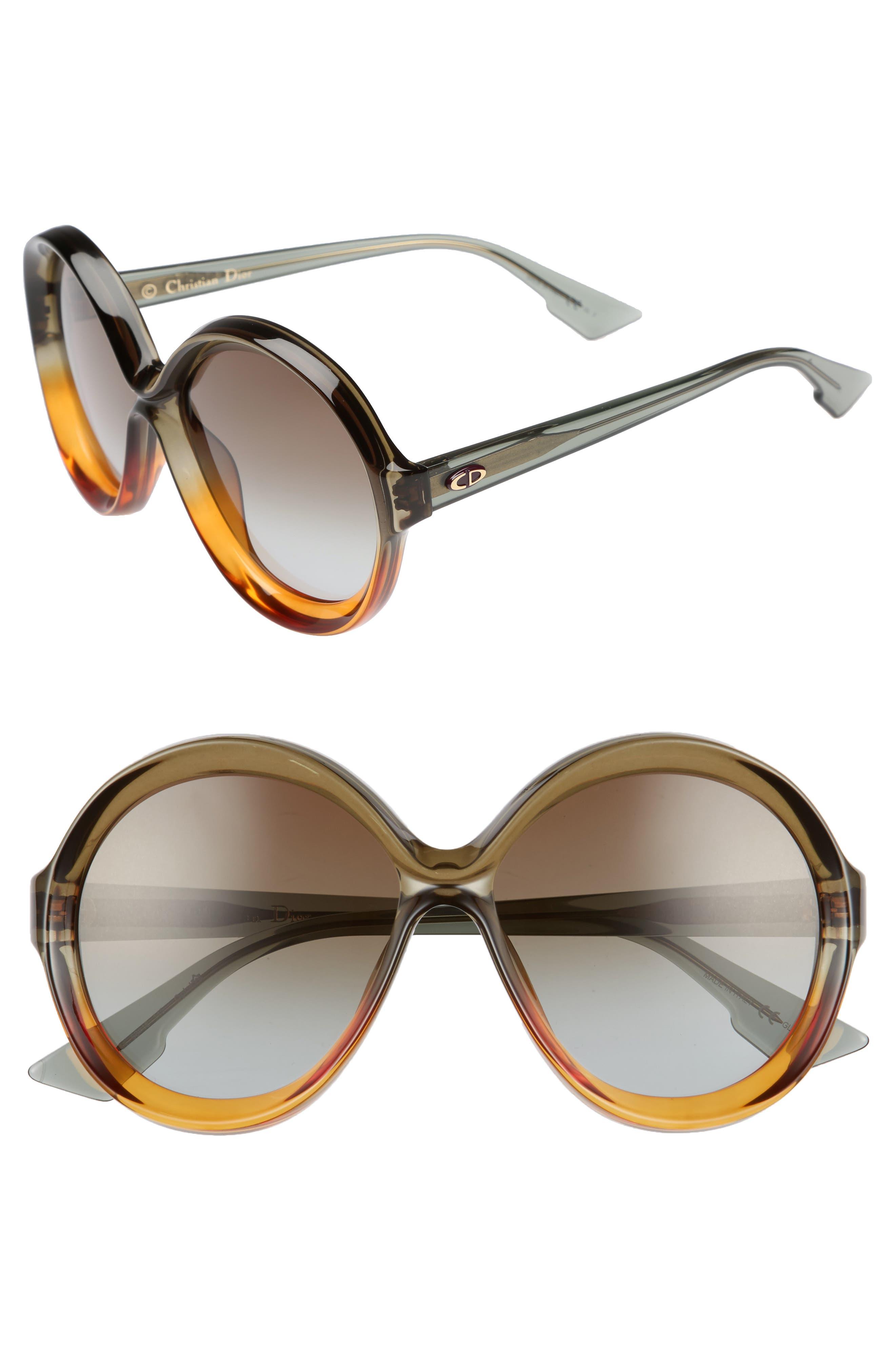 Dior Bianca 58mm Round Sunglasses