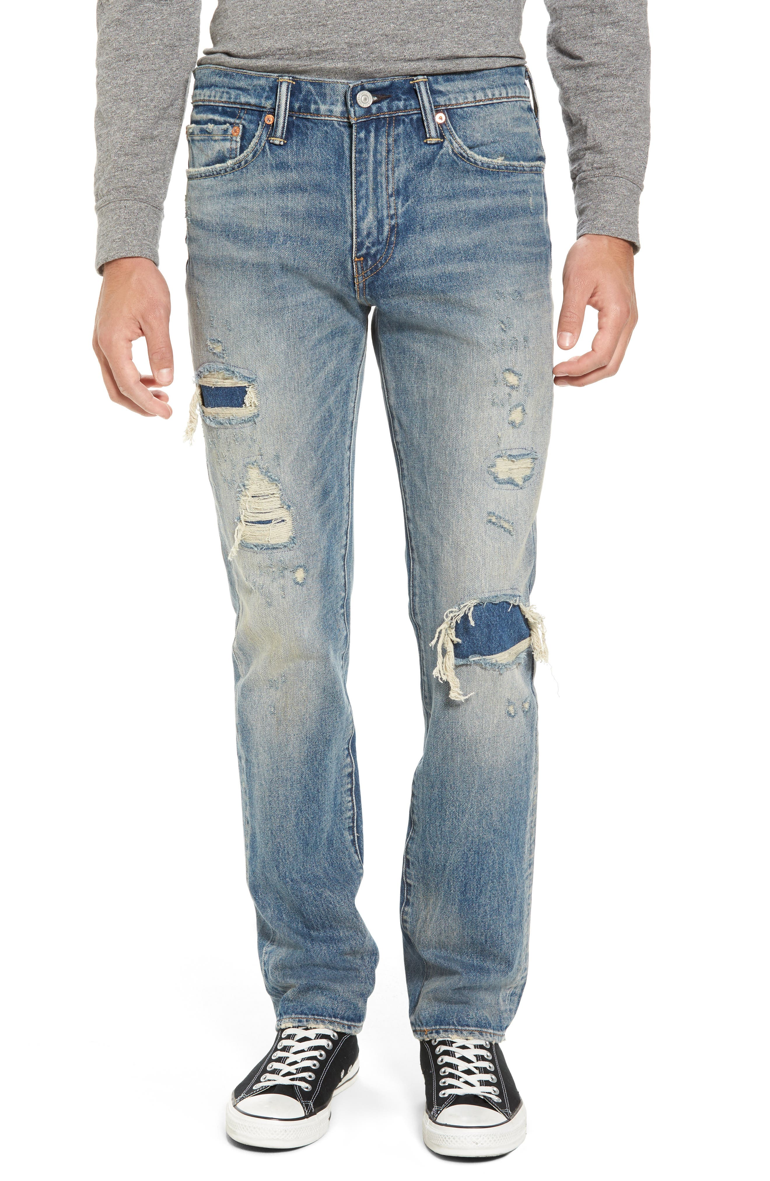 511<sup>™</sup> Slim Fit Jeans,                         Main,                         color, Medium Blue Burn