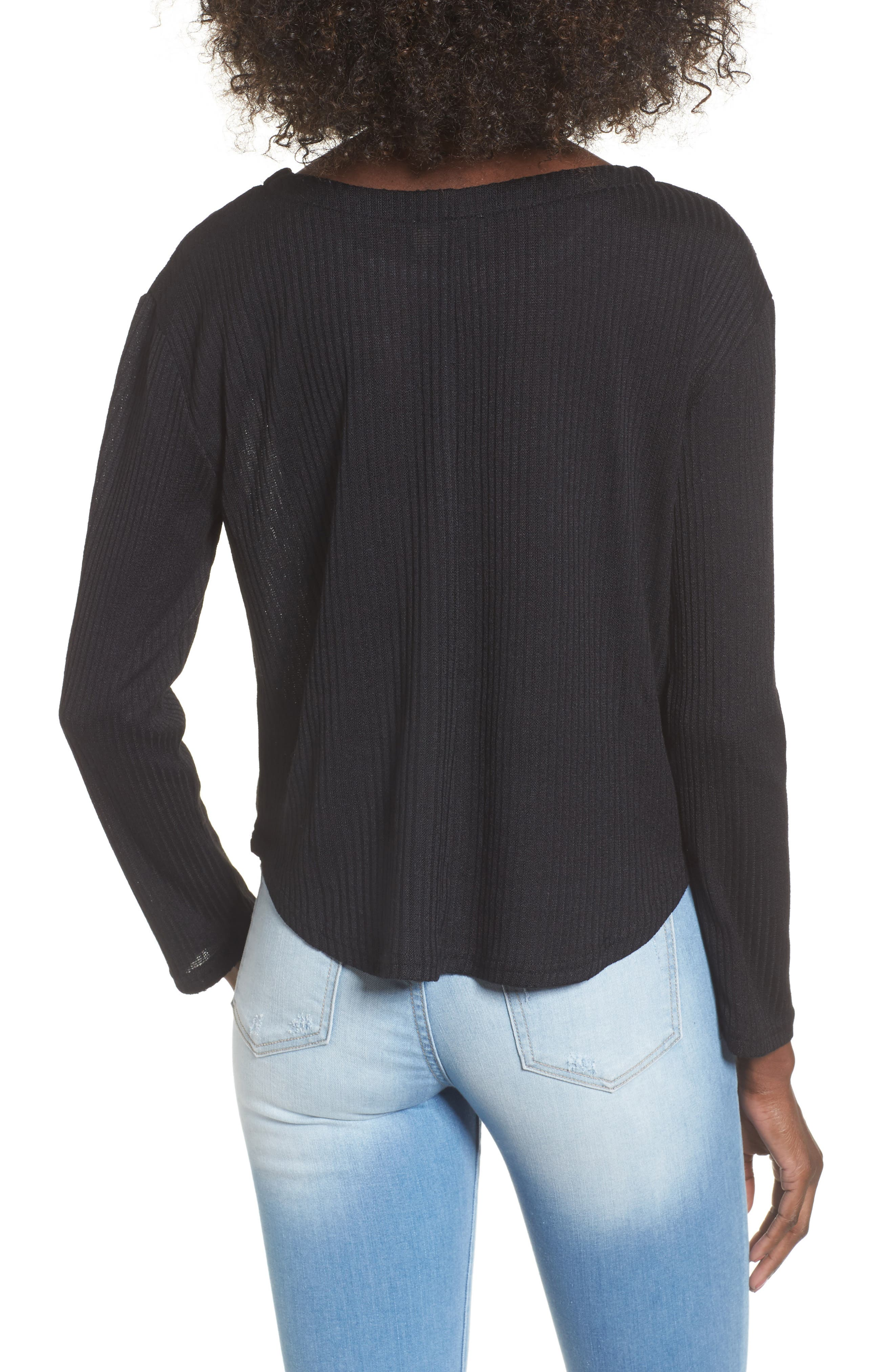 Sparrow Thermal Top,                             Alternate thumbnail 2, color,                             Black