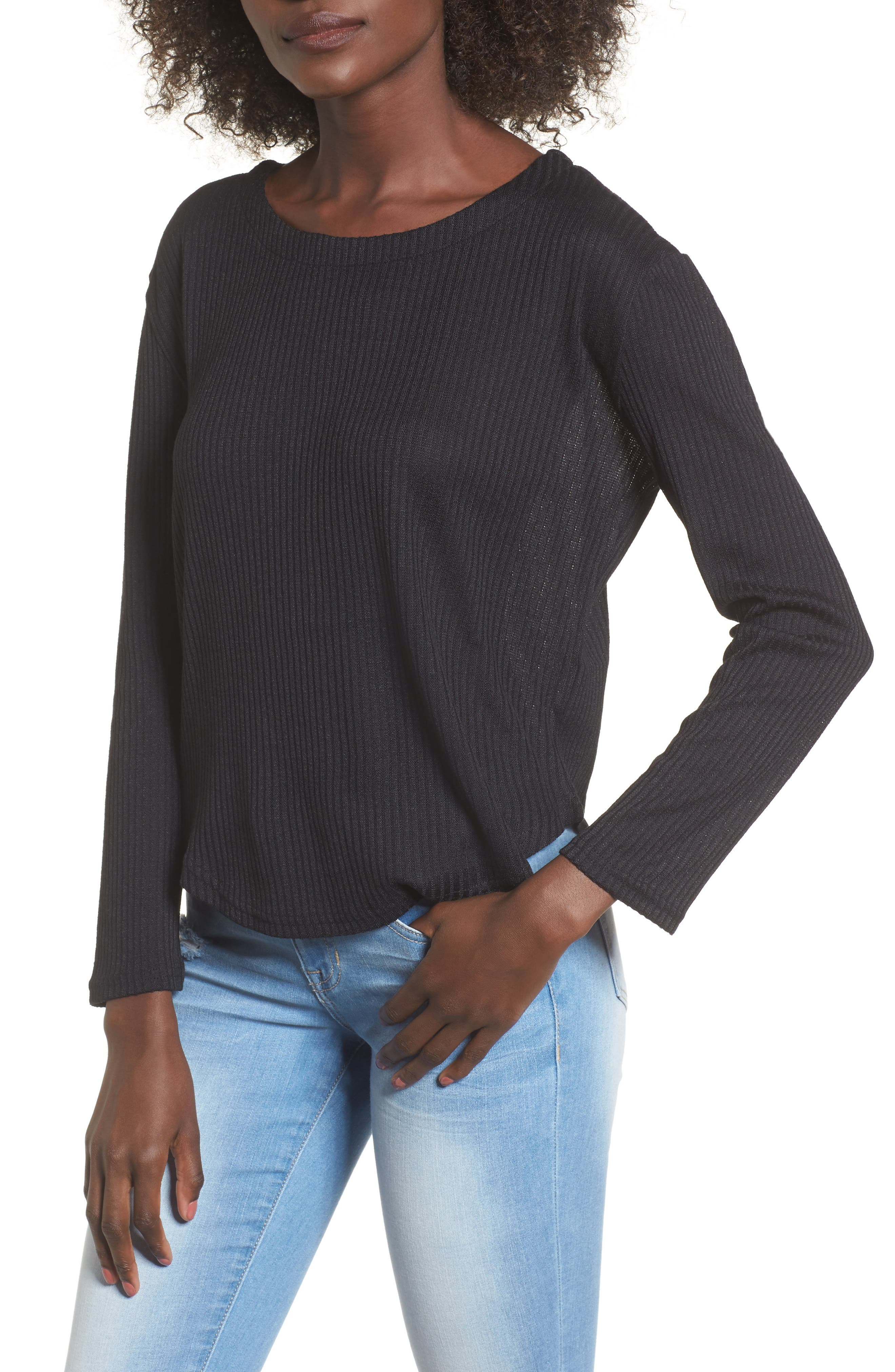 Sparrow Thermal Top,                         Main,                         color, Black