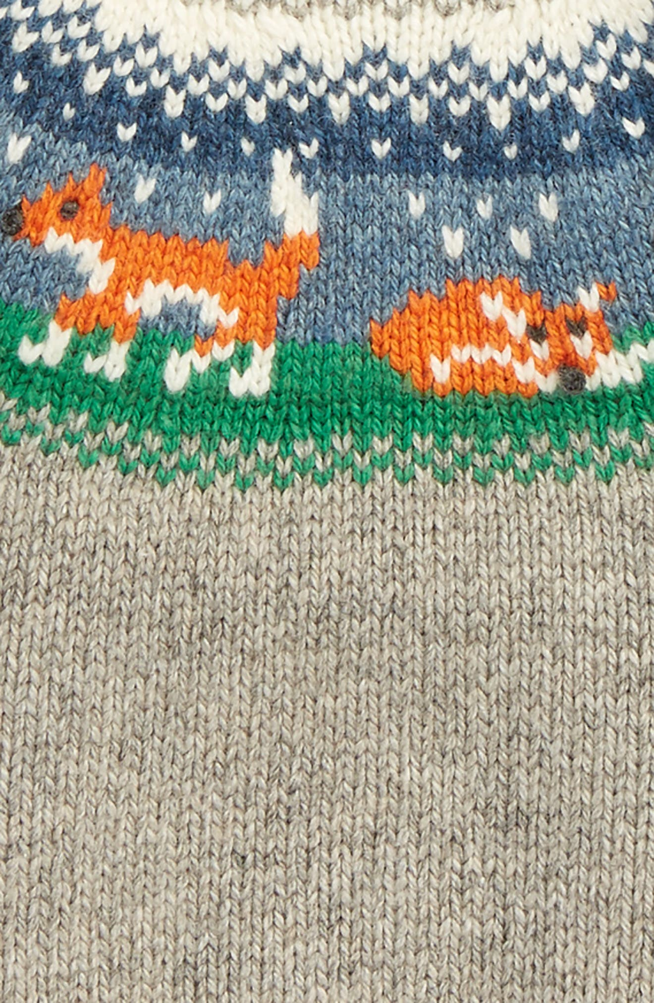 Fair Isle Sweater,                             Alternate thumbnail 2, color,                             Grey Marl Fox