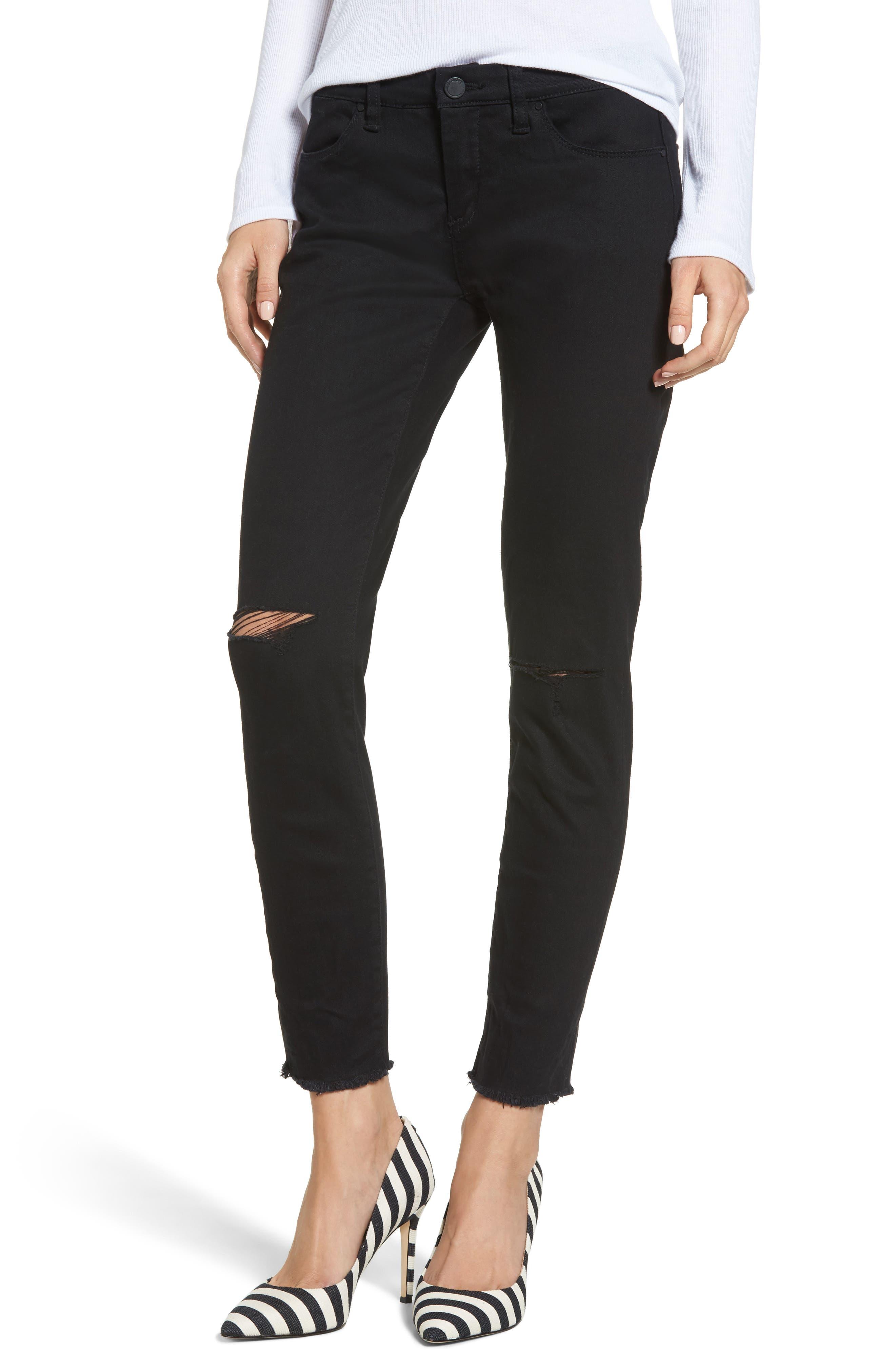 BLANKNYC Crazy Train Skinny Ankle Jeans