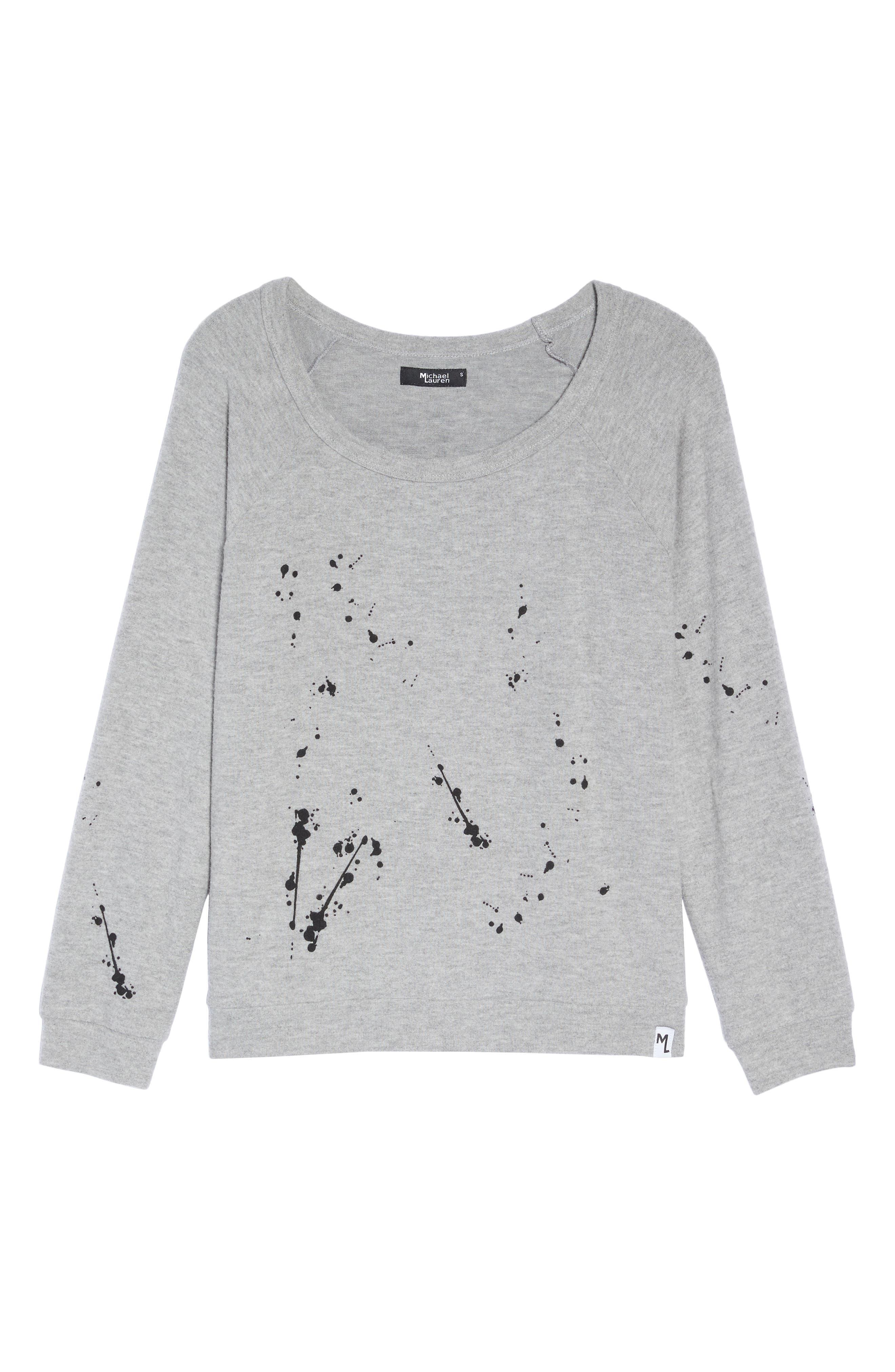 Kenny Splatter Lounge Sweatshirt,                             Alternate thumbnail 4, color,                             Heather Grey