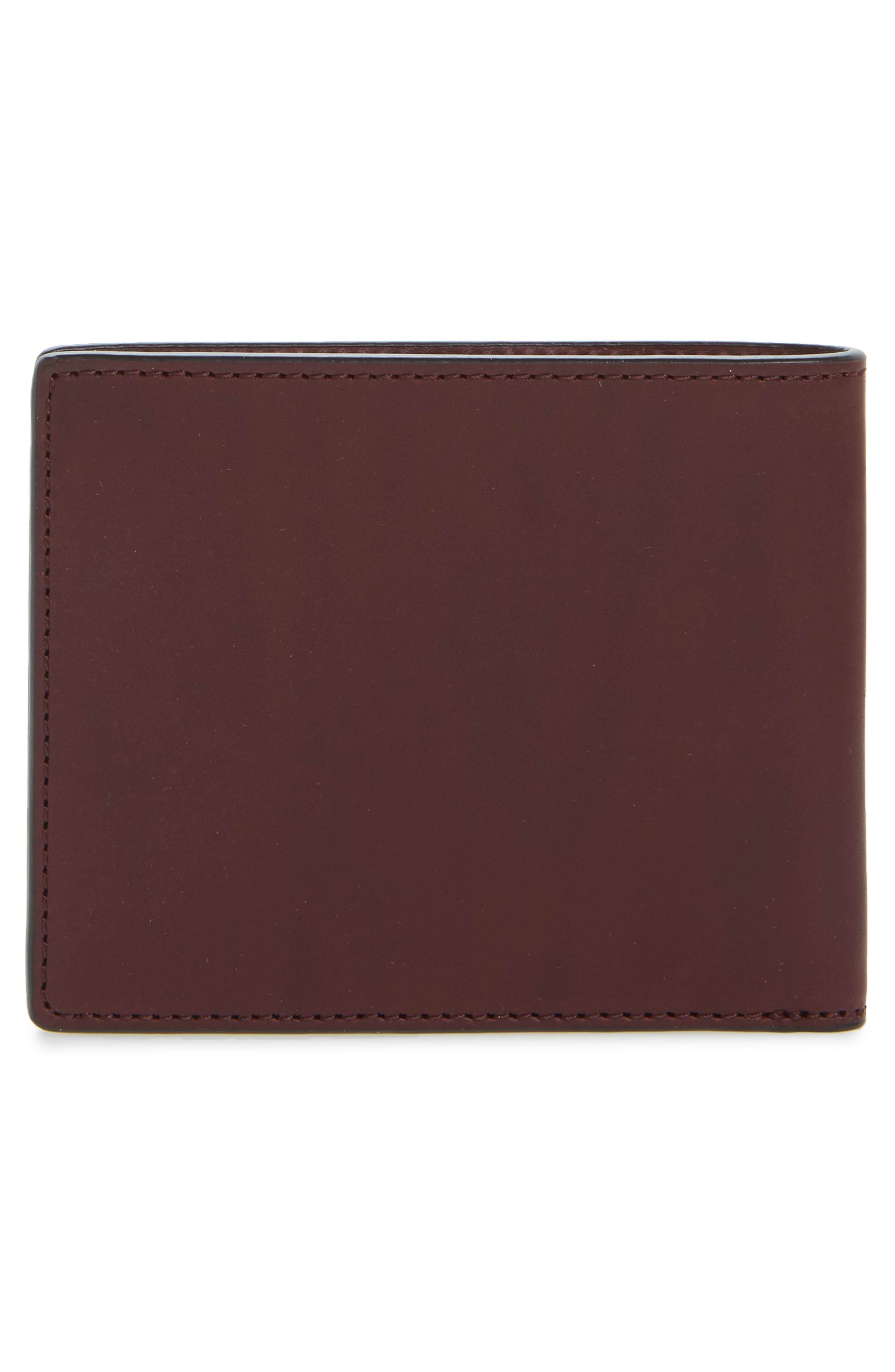 Hampshire Bifold Leather Wallet,                             Alternate thumbnail 3, color,                             Ox Blood