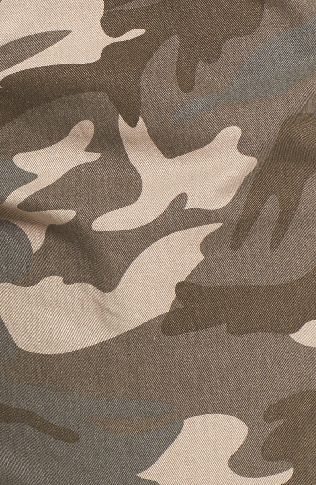 Evans Camo Skinny Pants,                             Alternate thumbnail 5, color,                             Olive