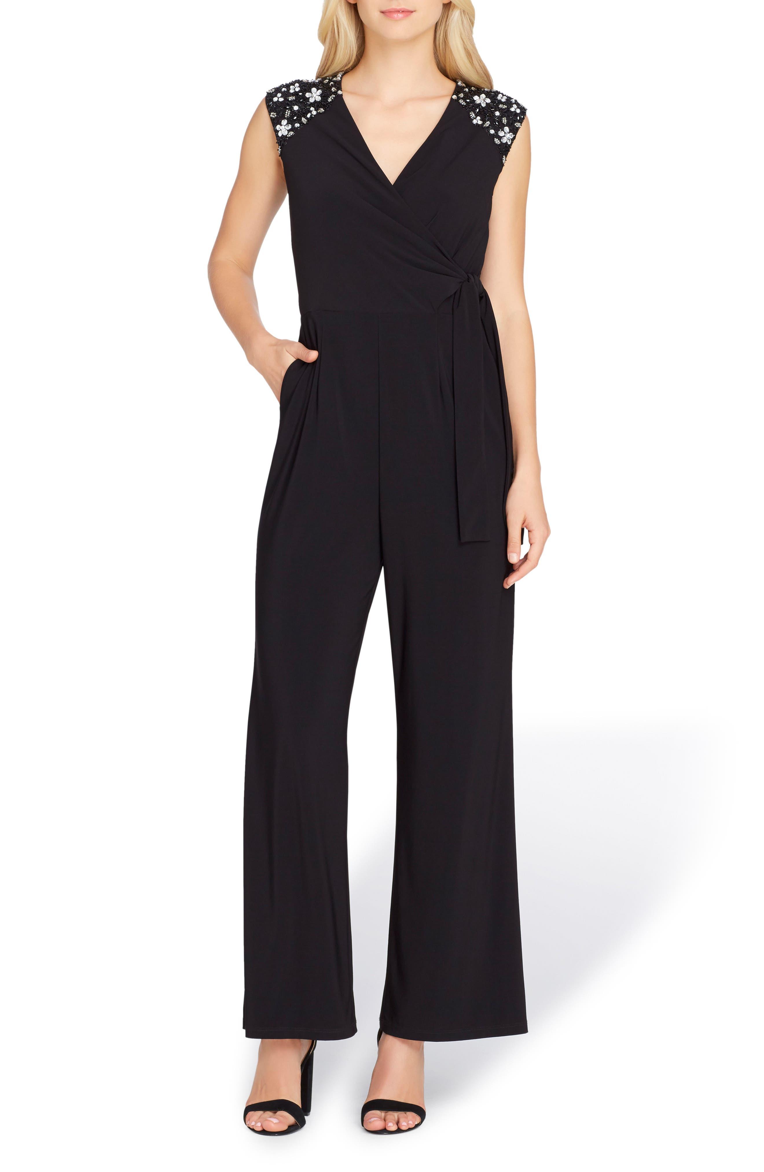 Embellished Jumpsuit,                         Main,                         color, Black