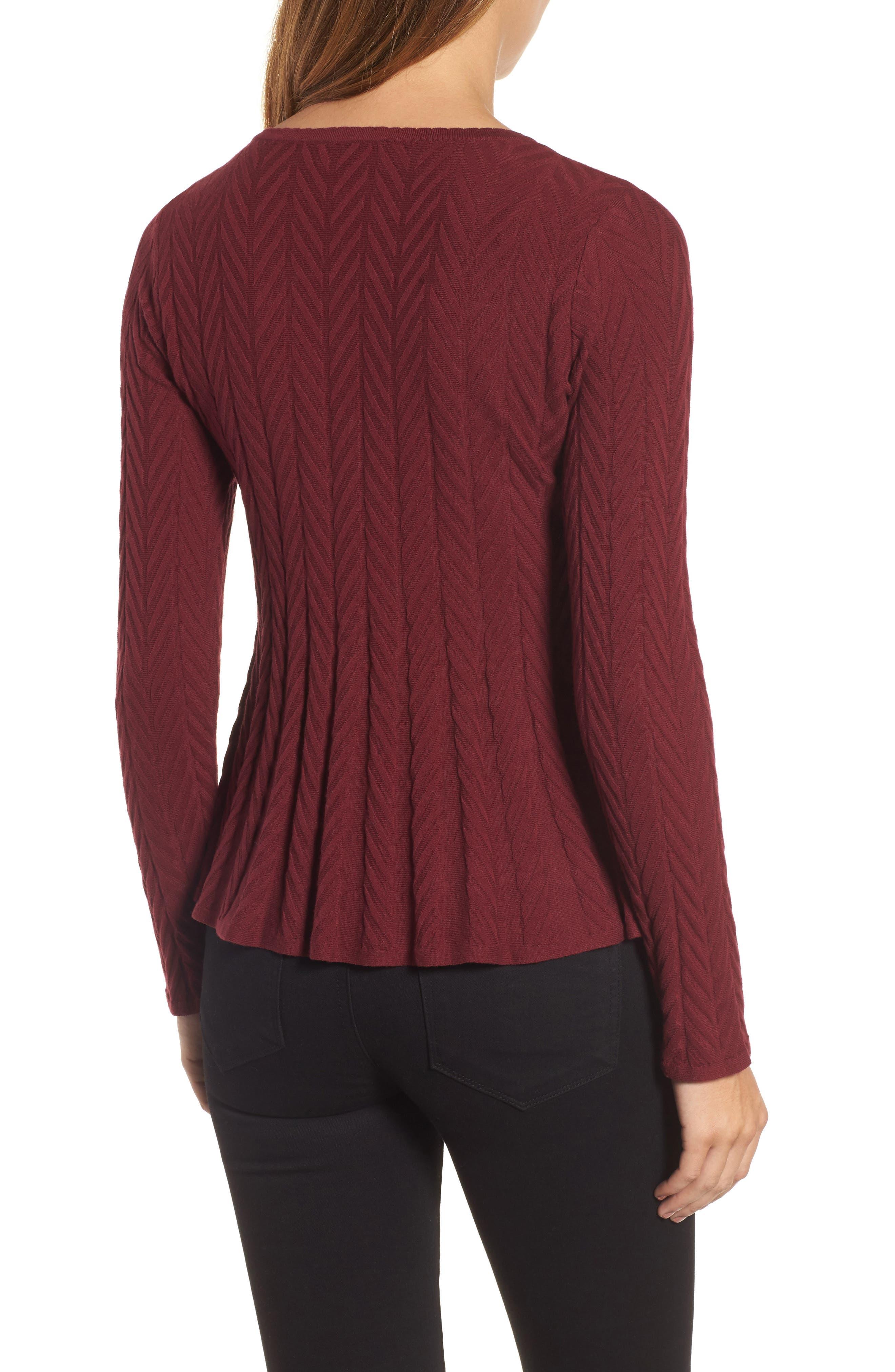 Alternate Image 2  - CeCe Chevron Stitch Sweater