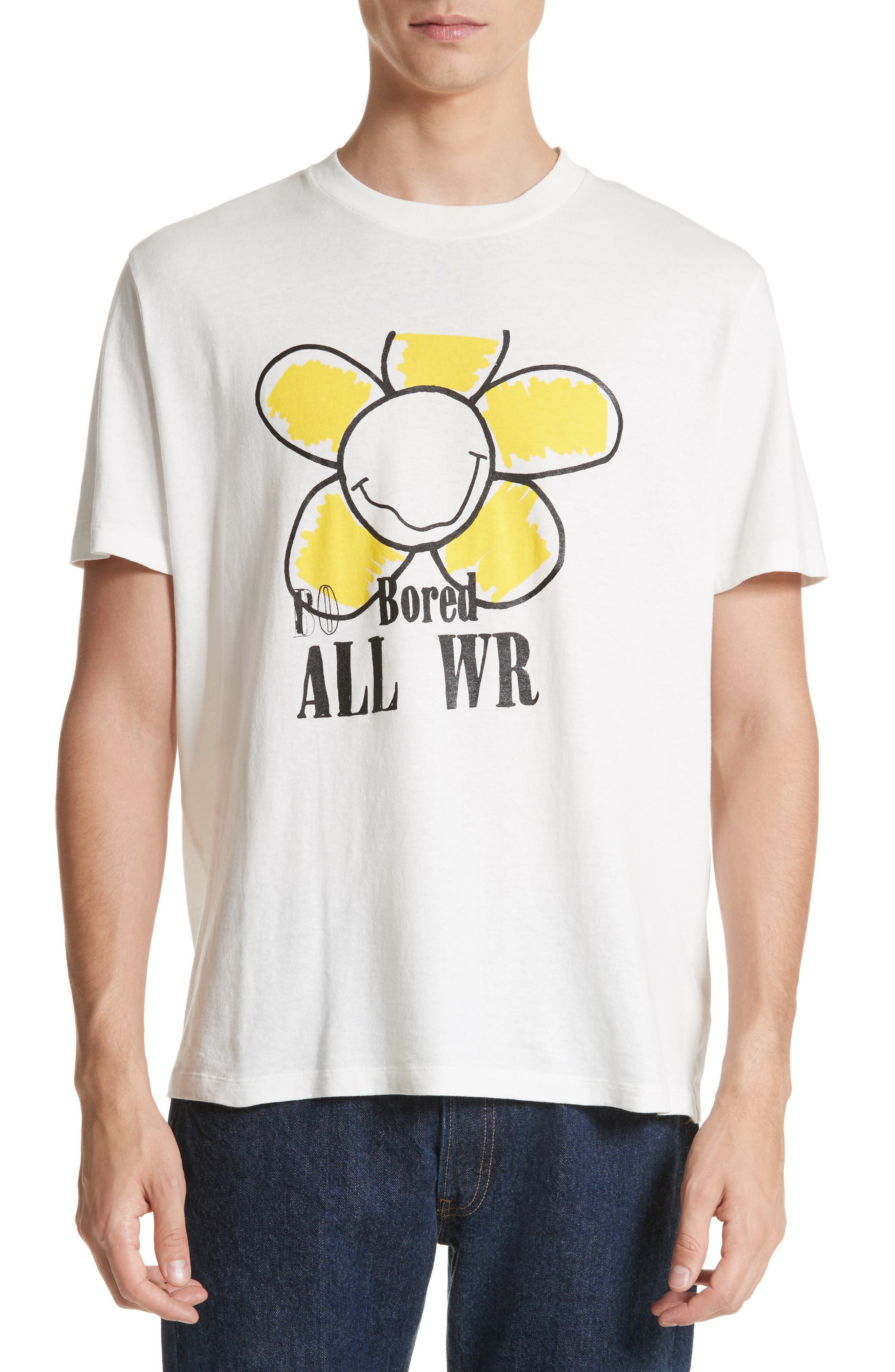 Bored Is All We Are Graphic T-Shirt,                             Main thumbnail 1, color,                             White