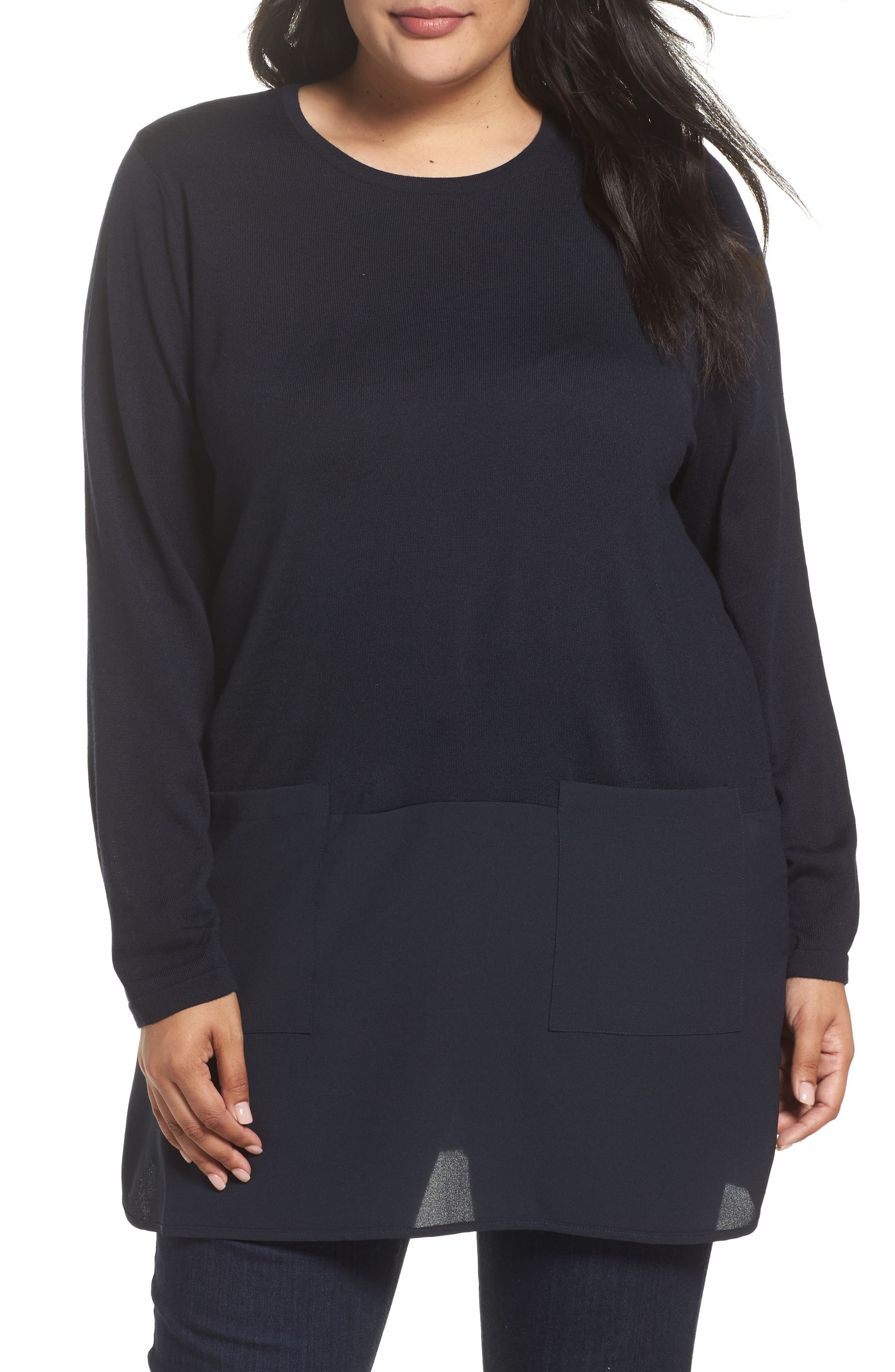 Persona by Marina Rinaldi Adamo MIxed Media Sweater (Plus Size)