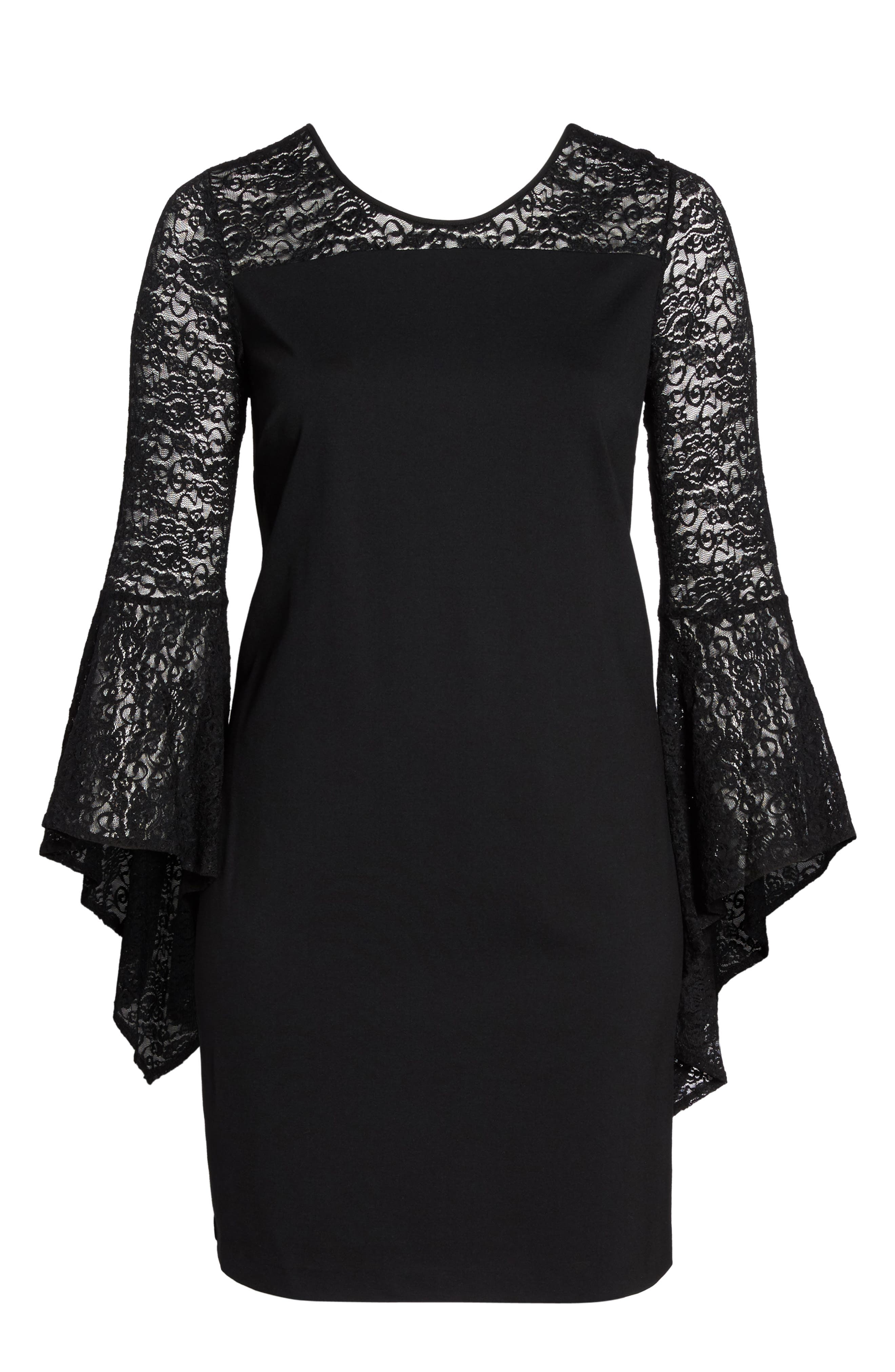 Alternate Image 6  - Vince Camuto Bell Sleeve Shift Dress (Plus Size)