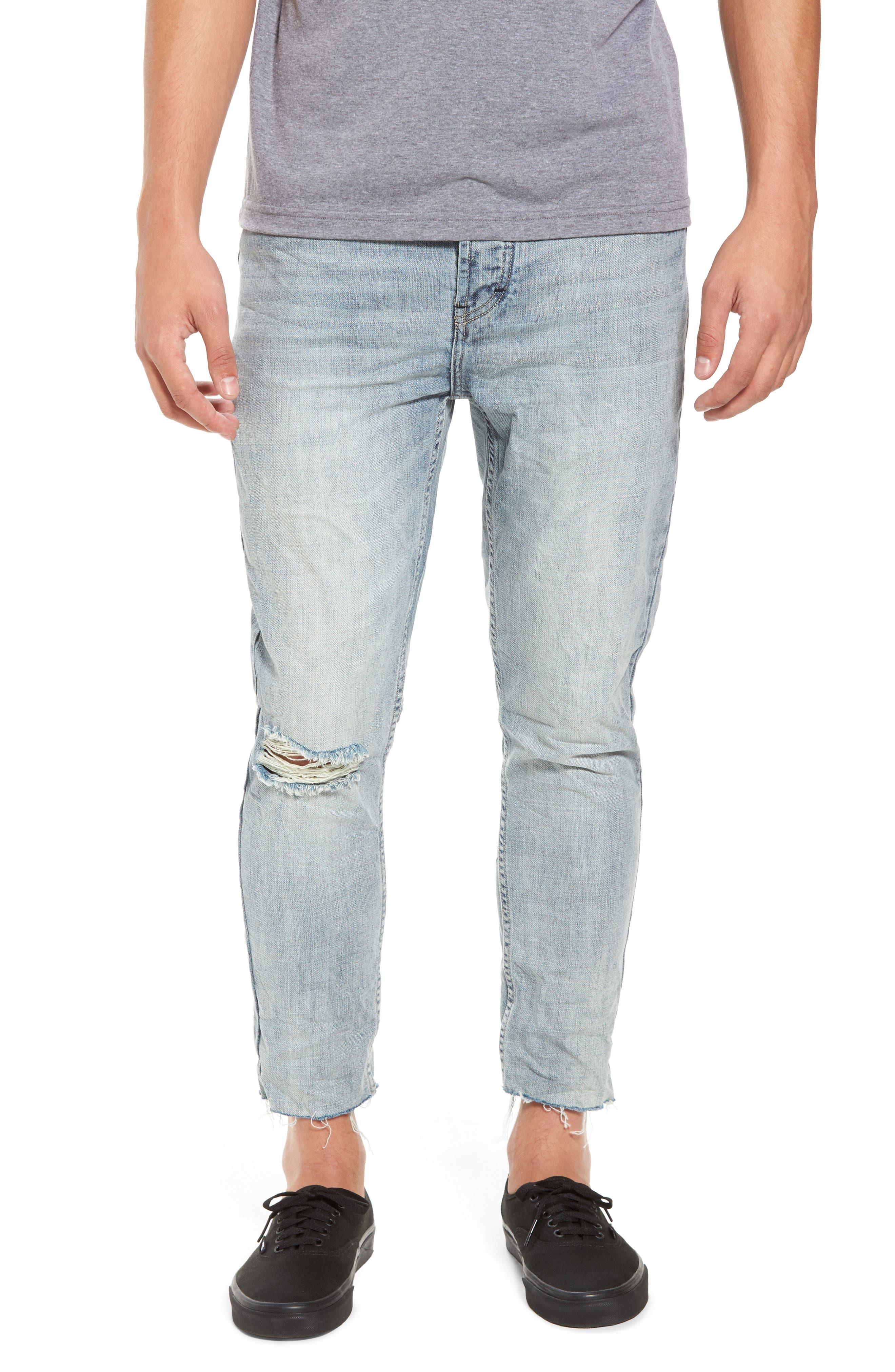 B.Line Crop Slim Fit Jeans,                             Main thumbnail 1, color,                             90S Stonewash