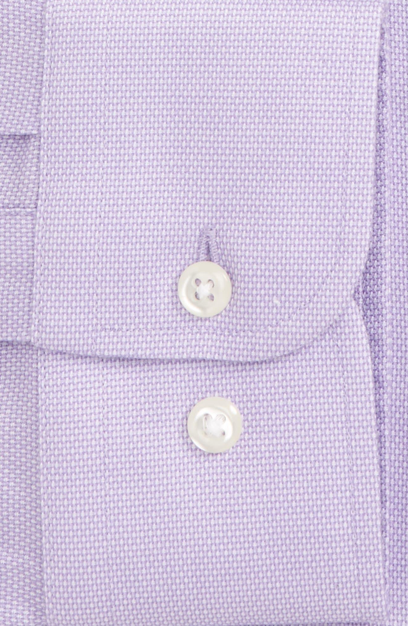 Smartcare<sup>™</sup> Trim Fit Oxford Dress Shirt,                             Alternate thumbnail 2, color,                             Purple Bonnet