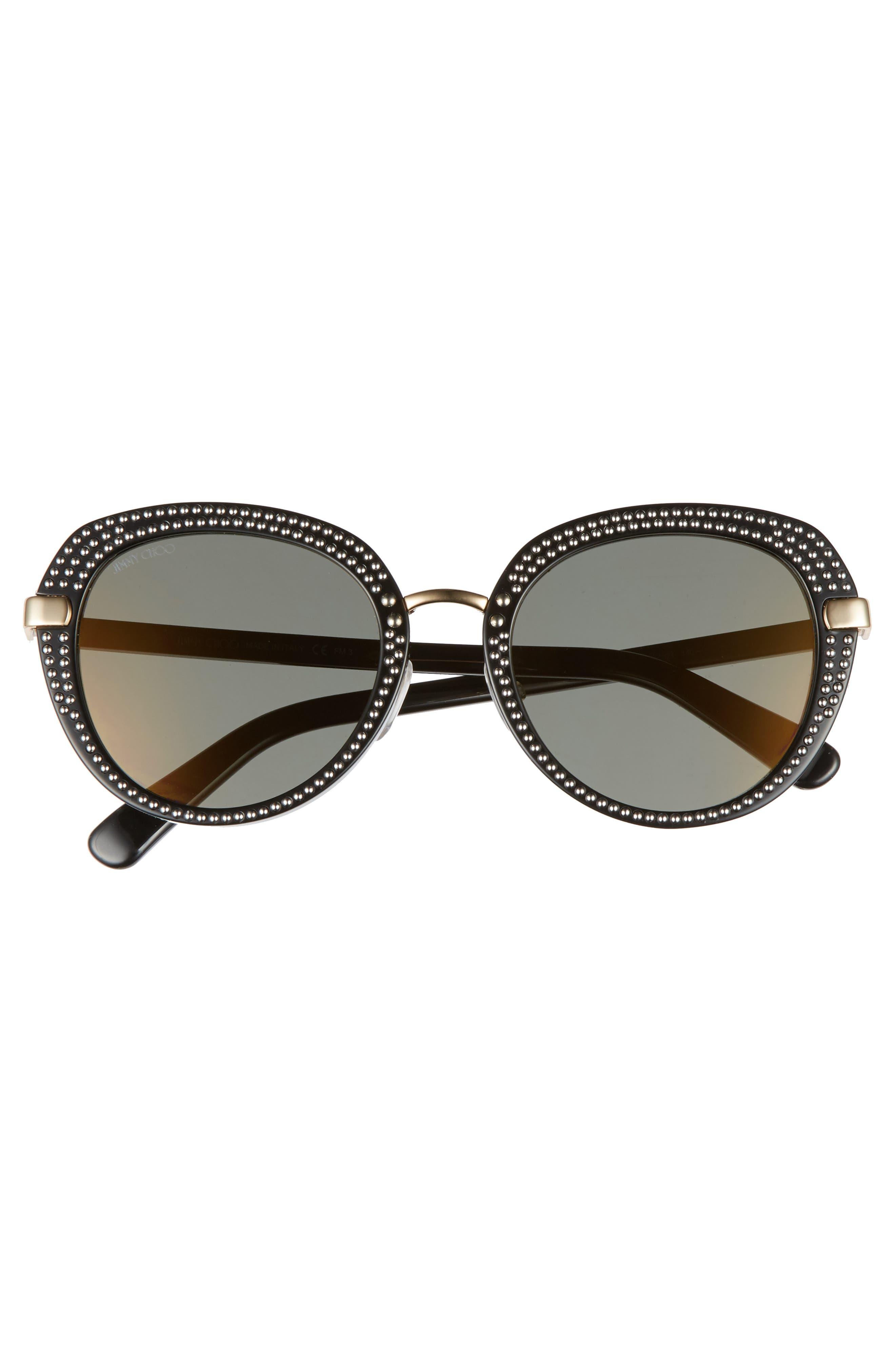 Moris 52mm Oversize Sunglasses,                             Alternate thumbnail 3, color,                             Black Gold