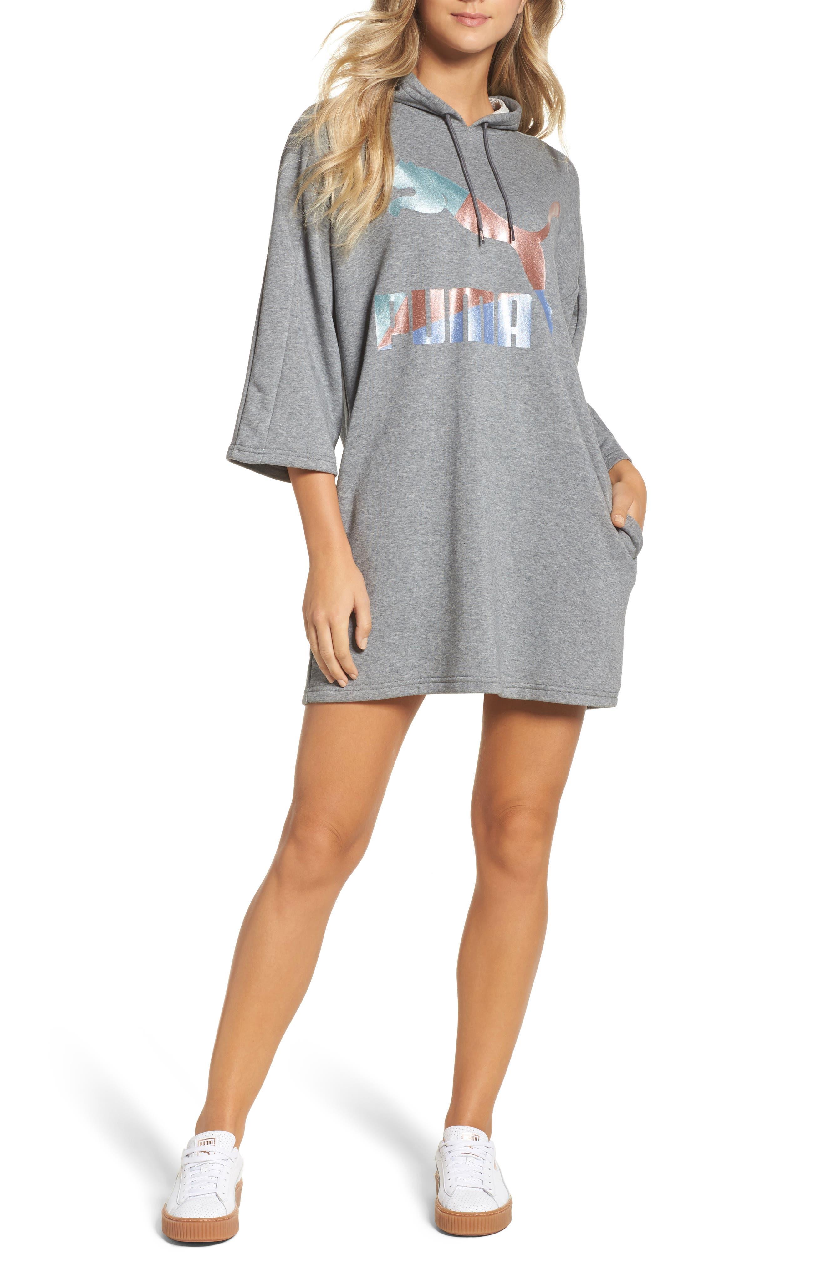 Alternate Image 1 Selected - PUMA Glam Oversize Hooded Dress