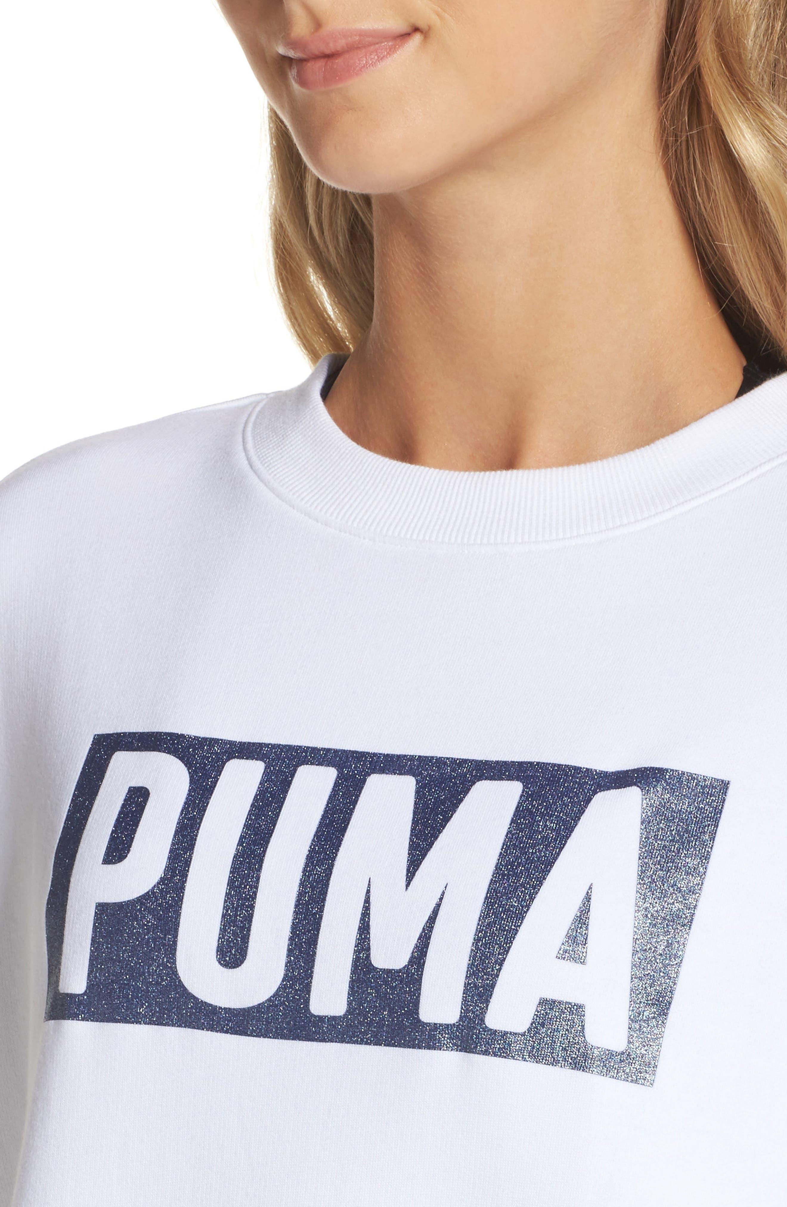 Alternate Image 4  - PUMA Fusion Sweatshirt Dress