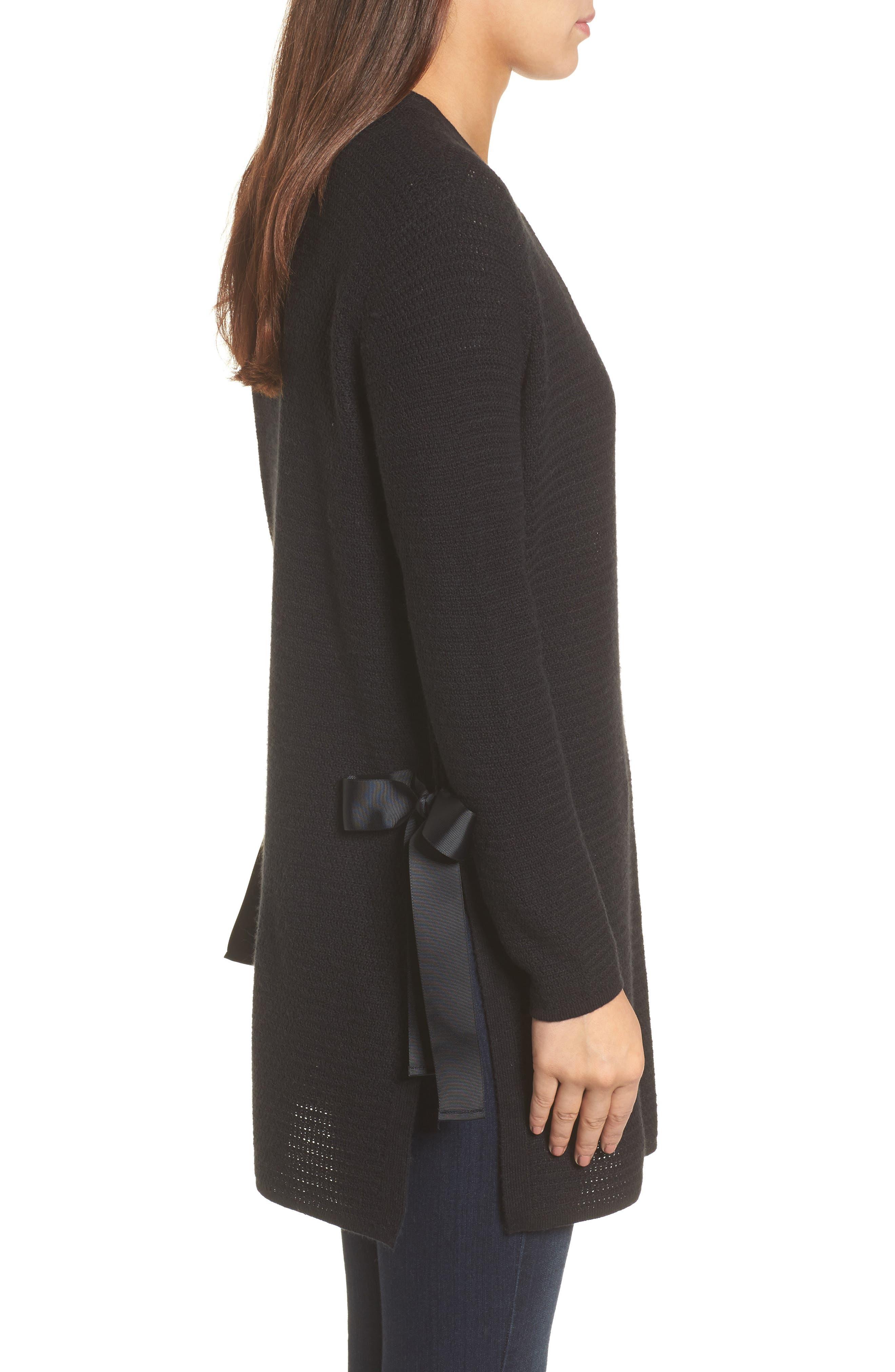 Alternate Image 3  - Halogen® Side Tie Cardigan (Regular & Petite)