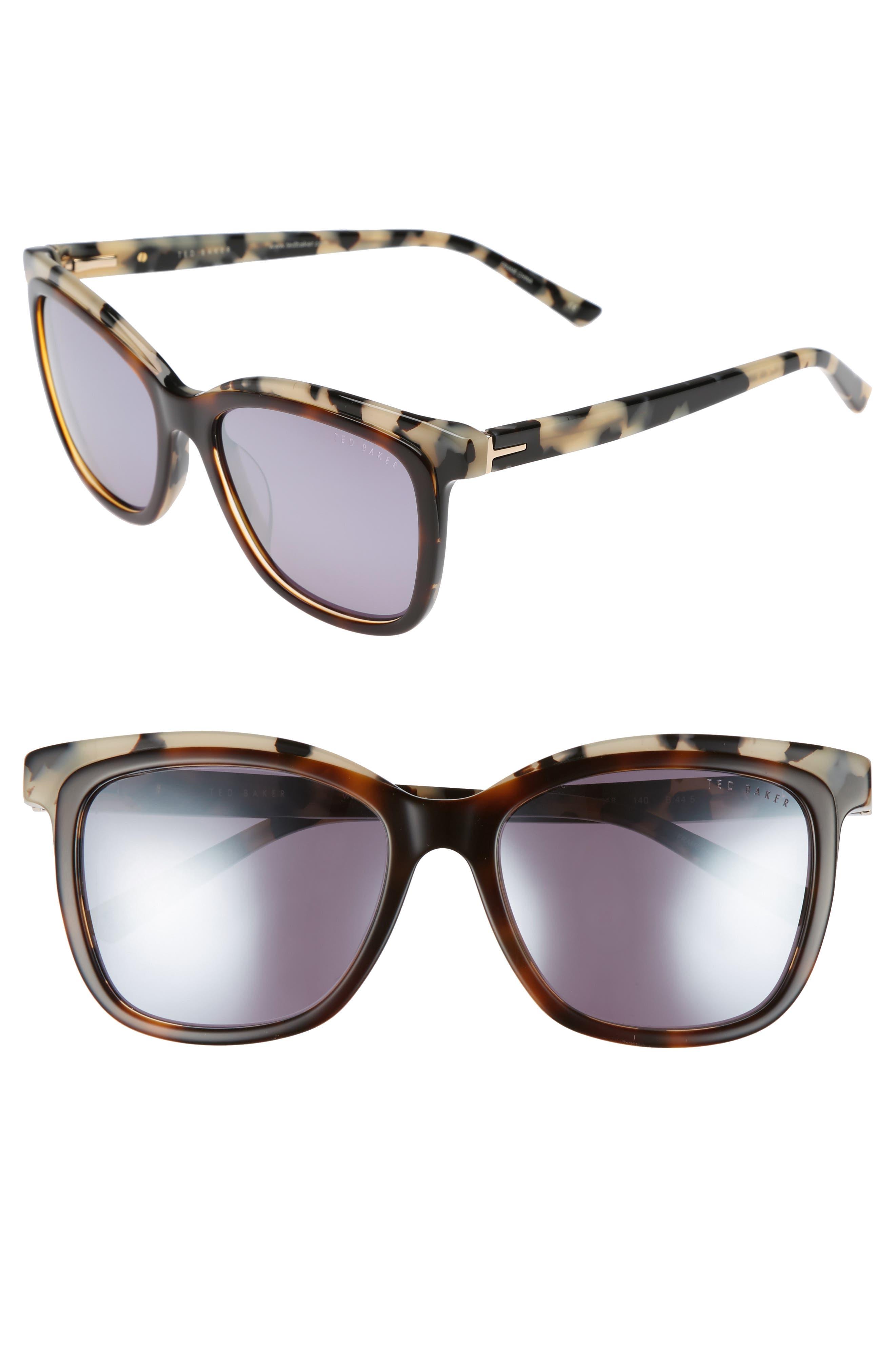 Main Image - Ted Baker London 54mm Polarized Cat Eye Sunglasses