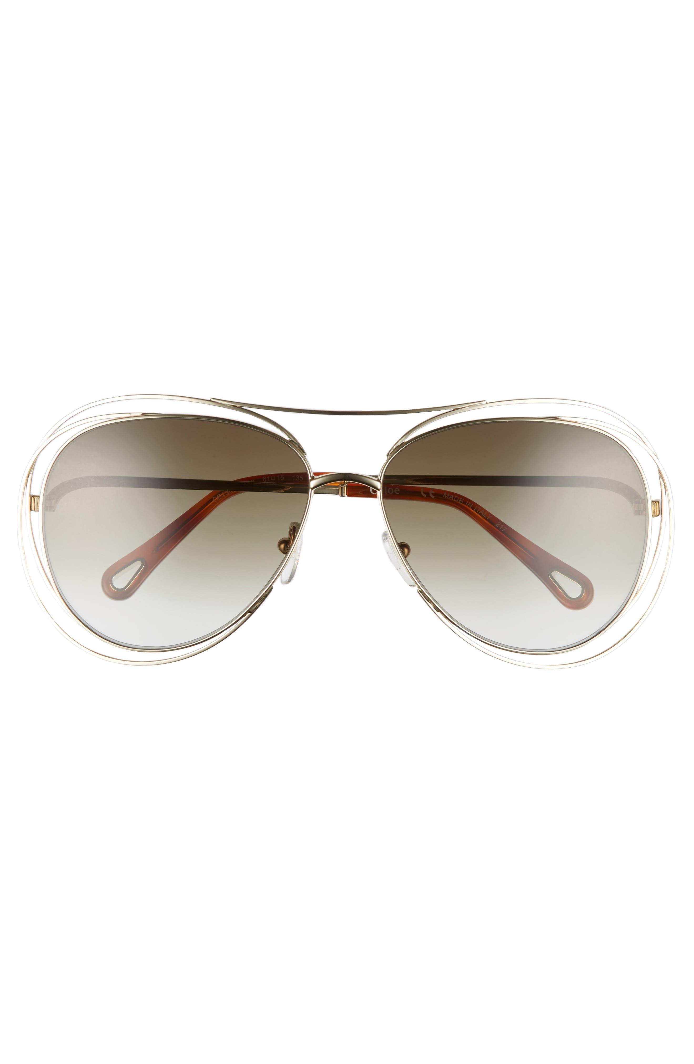 Alternate Image 6  - Chloé 61mm Aviator Sunglasses