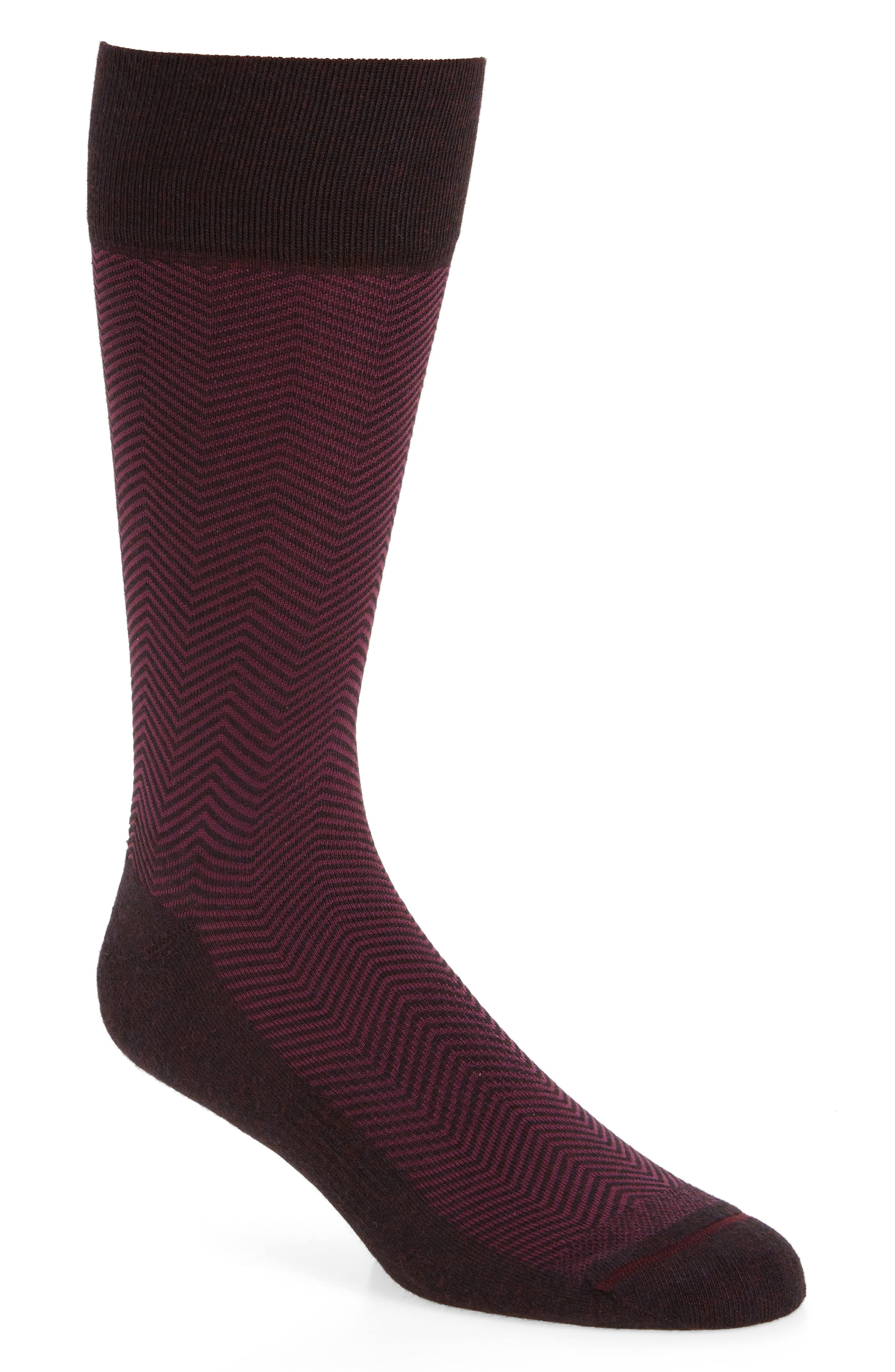 Nordstrom Men's Shop Chevron Socks (3 for $30)
