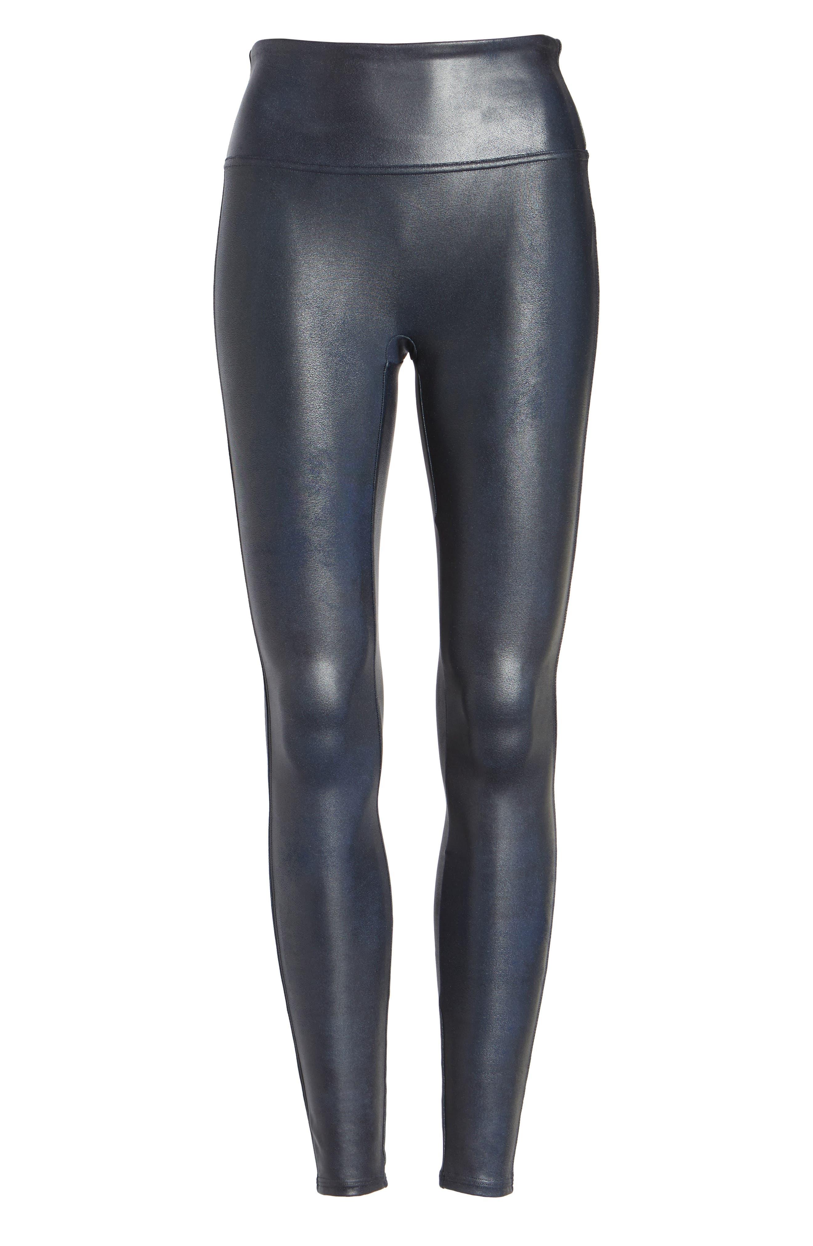 Alternate Image 6  - SPANX® Faux Leather Leggings